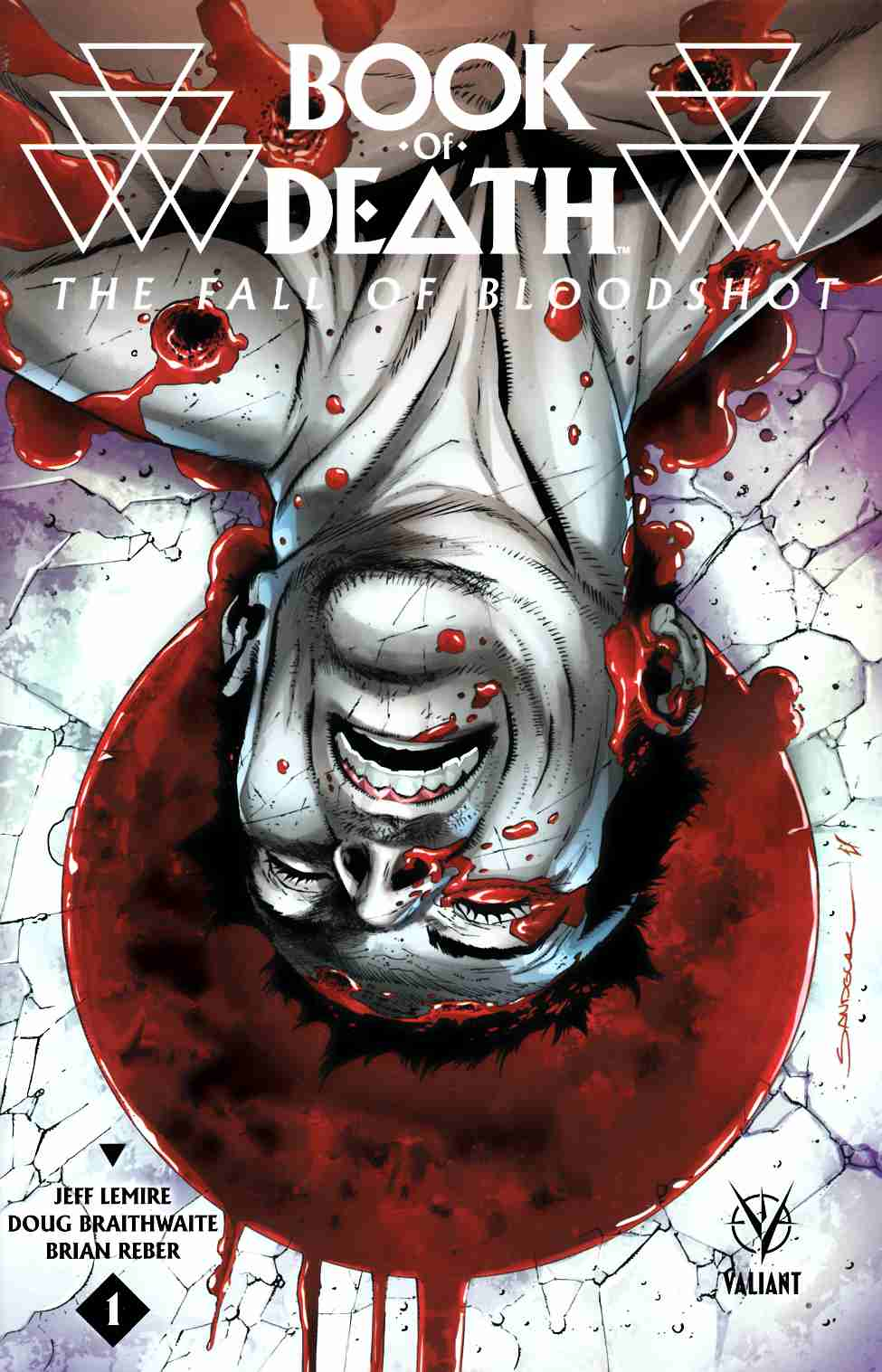 Book of Death Fall of Bloodshot #1 Cover A- Sandoval [Valiant Comic]_THUMBNAIL