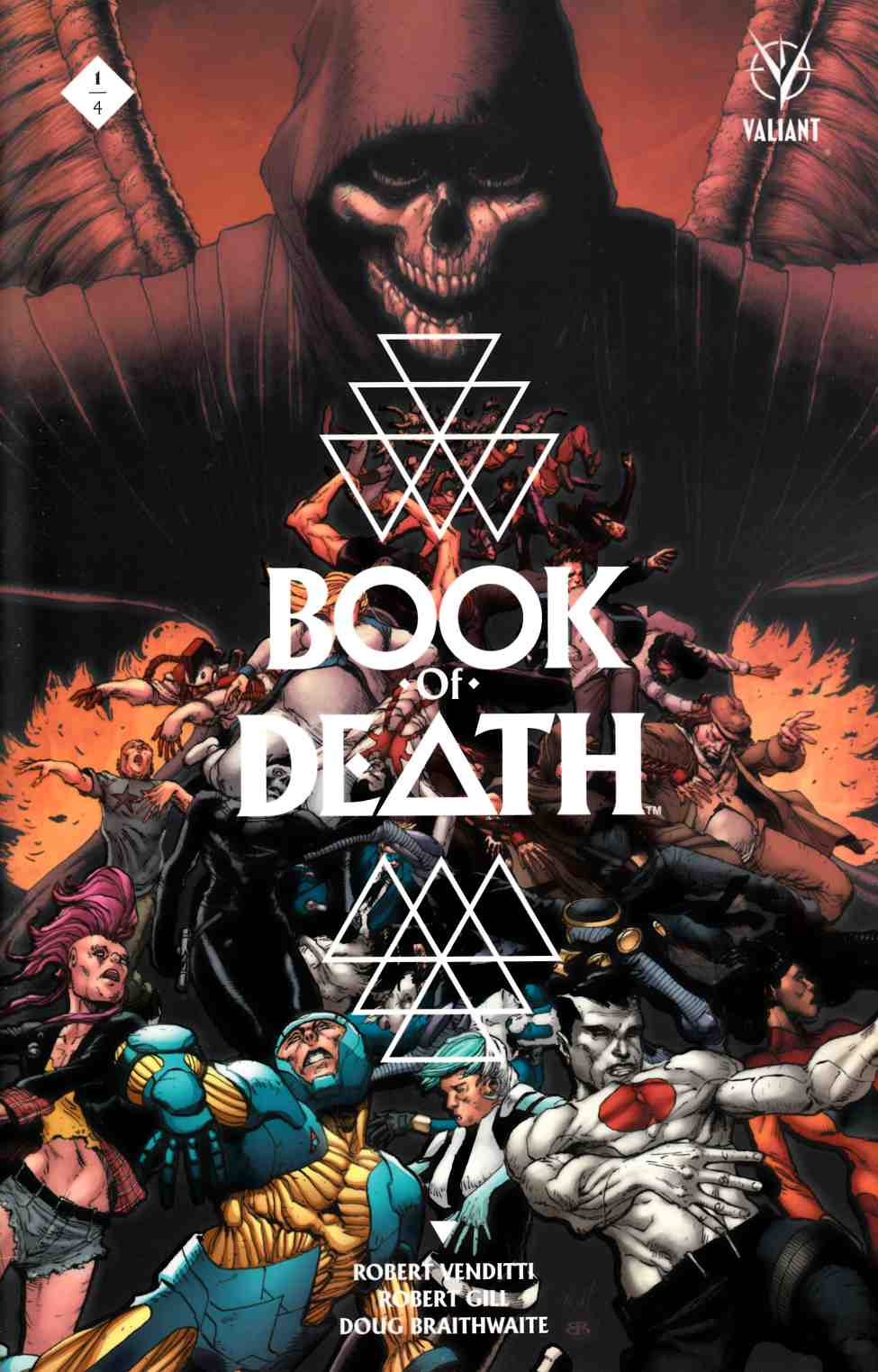 Book of Death #1 Cover A- Gill [Valiant Comic] THUMBNAIL