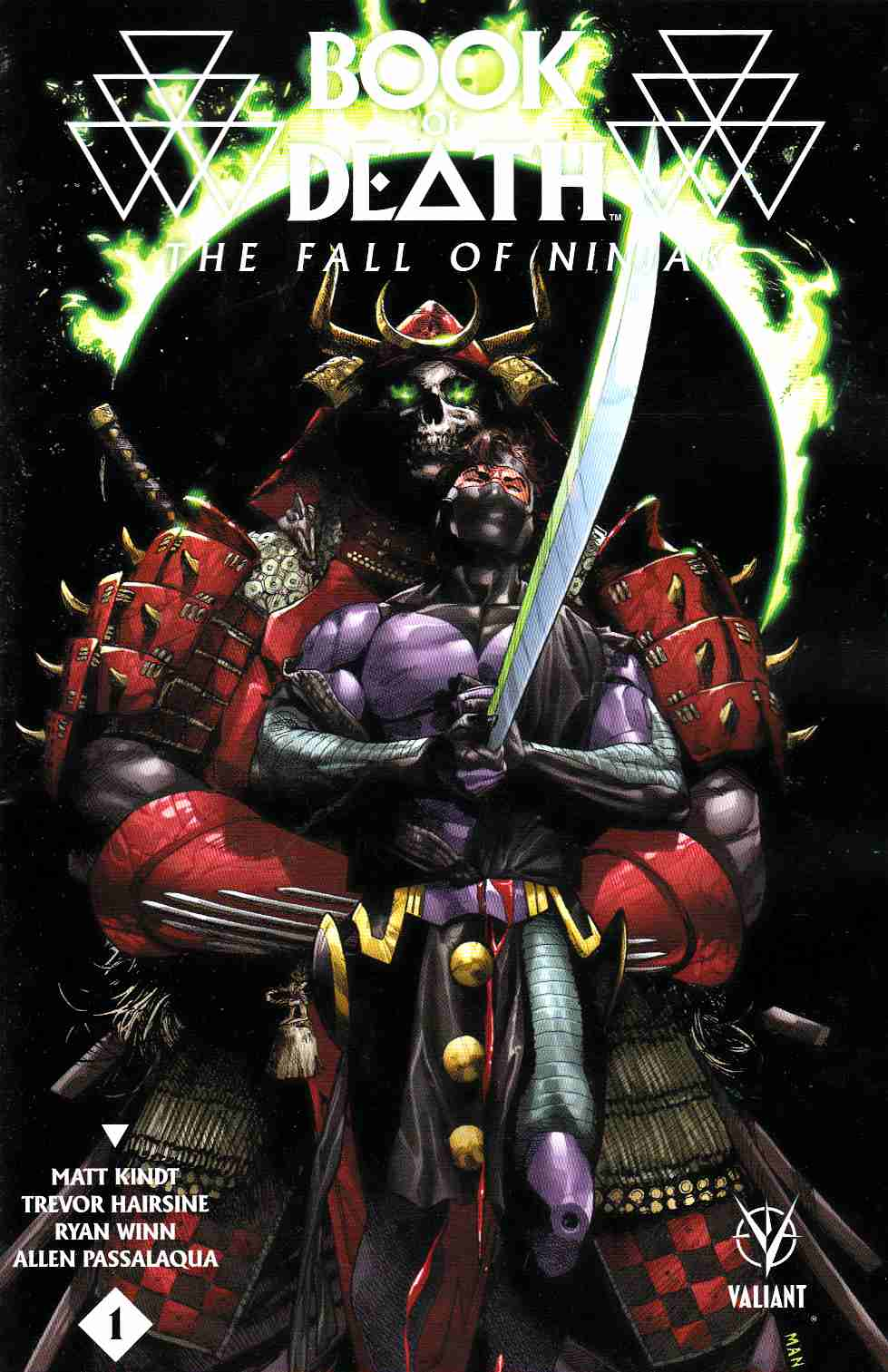 Book of Death Fall of Ninjak #1 Cover B- Mann [Valiant Comic] LARGE