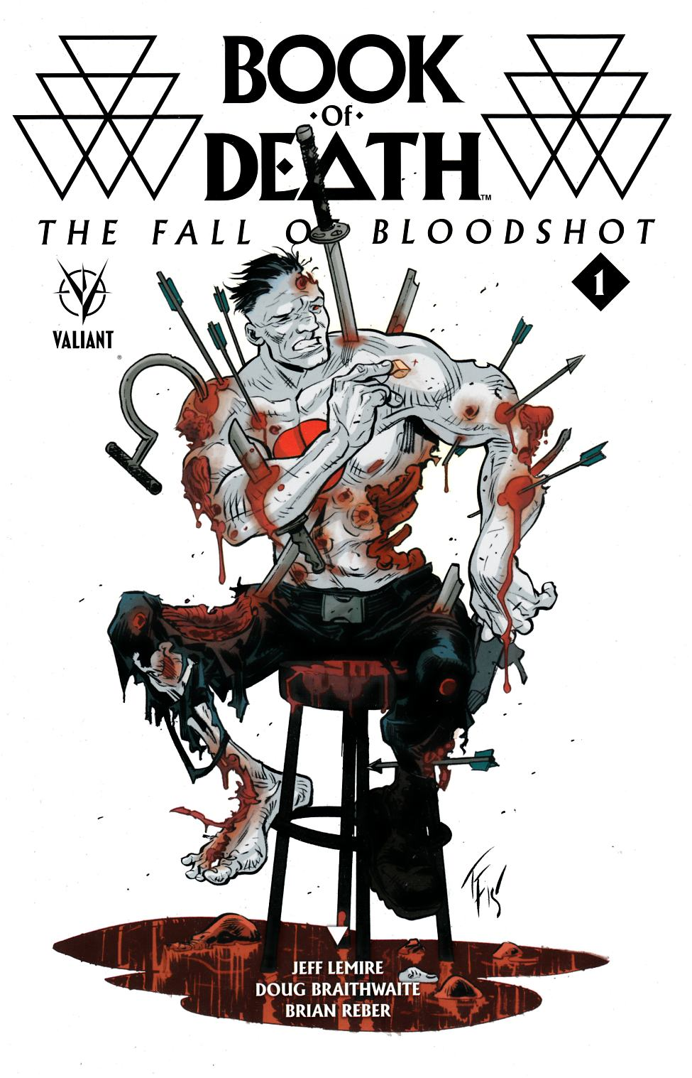 Book of Death Fall of Bloodshot #1 Cover D- Fowler Incentive [Valiant Comic]_THUMBNAIL
