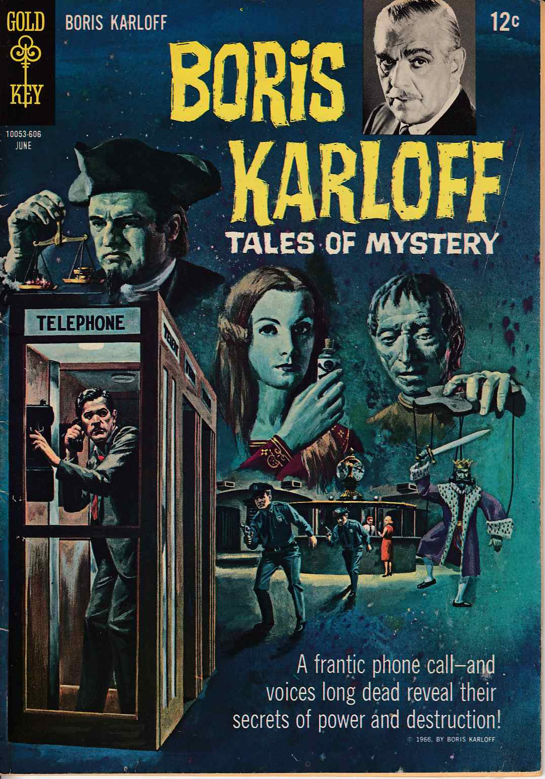 Boris Karloff Tales of Mystery #14 Fine Minus (5.5) [Gold Key Comic] LARGE