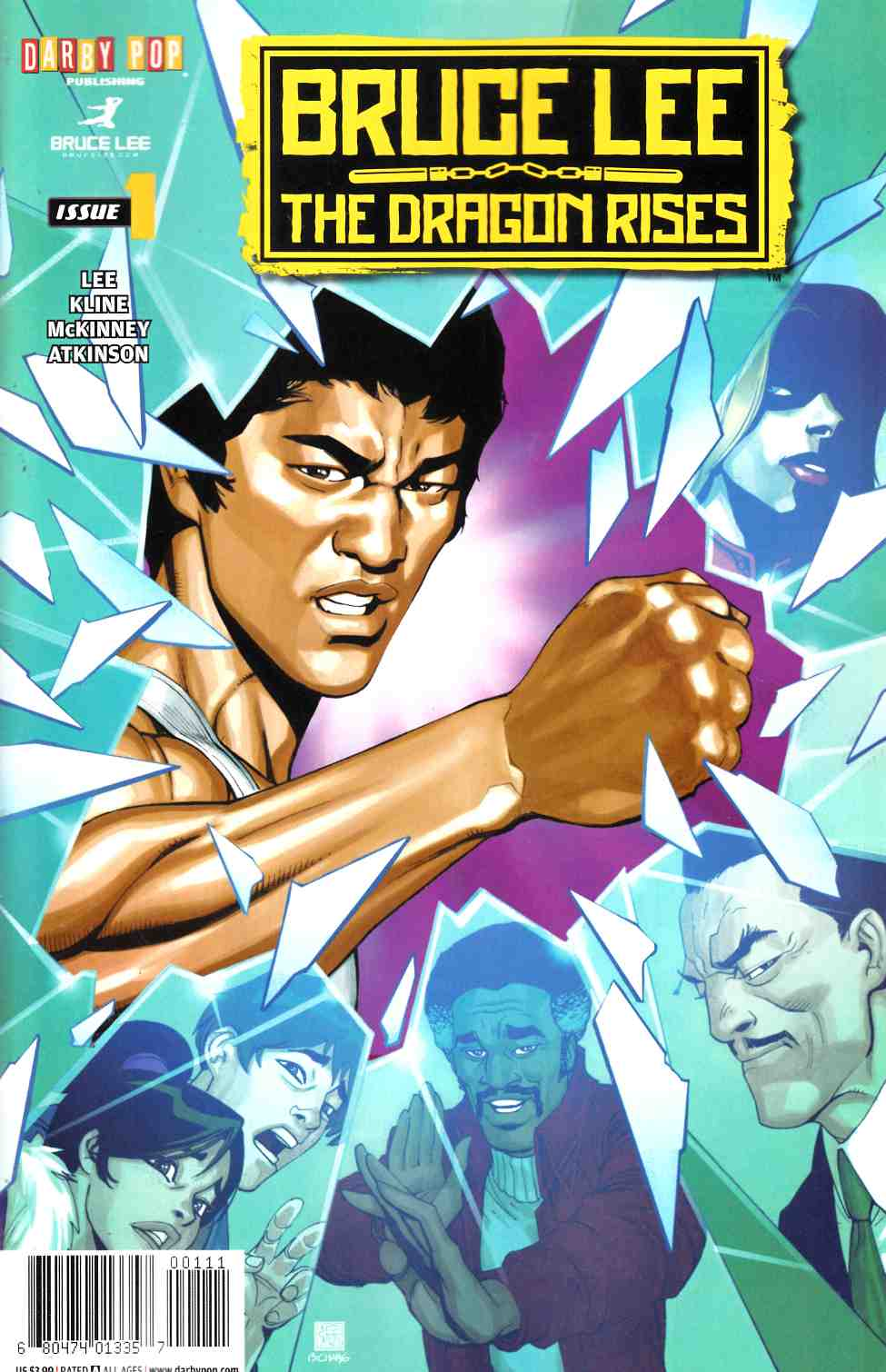 Bruce Lee Dragon Rises #1 Cover A [IDW Comic] THUMBNAIL