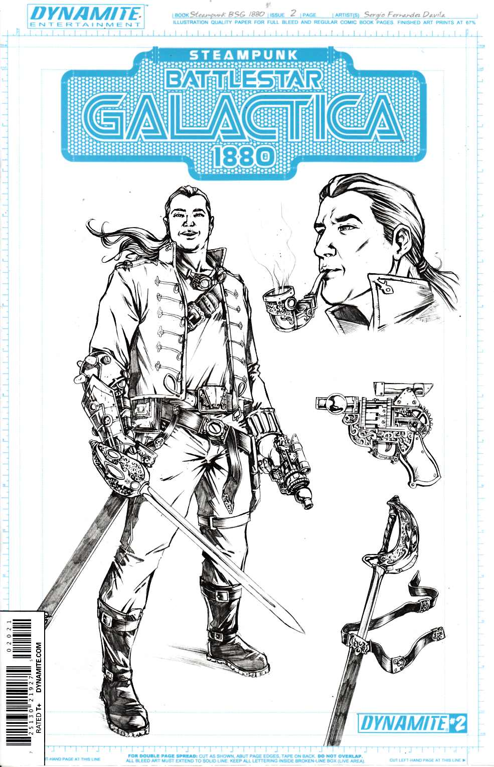 Steampunk BSG 1880 #2 Concept Art Incentive Cover [Dynamite Comic] THUMBNAIL