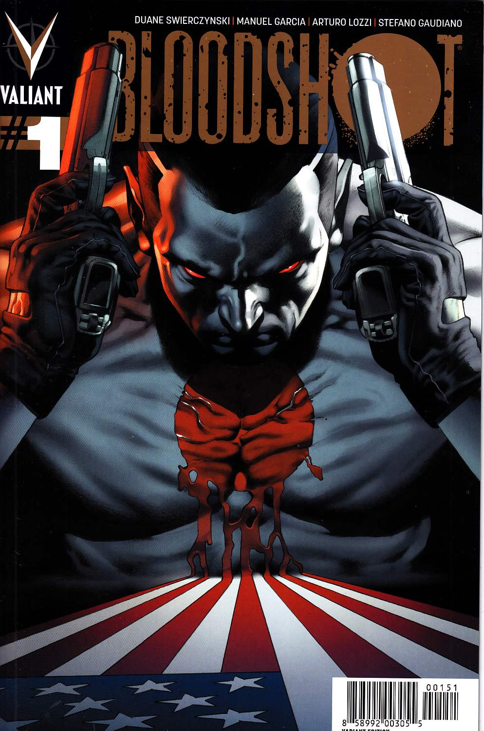 Bloodshot #1 Gold Edition Variant Cover [Valiant Comic]