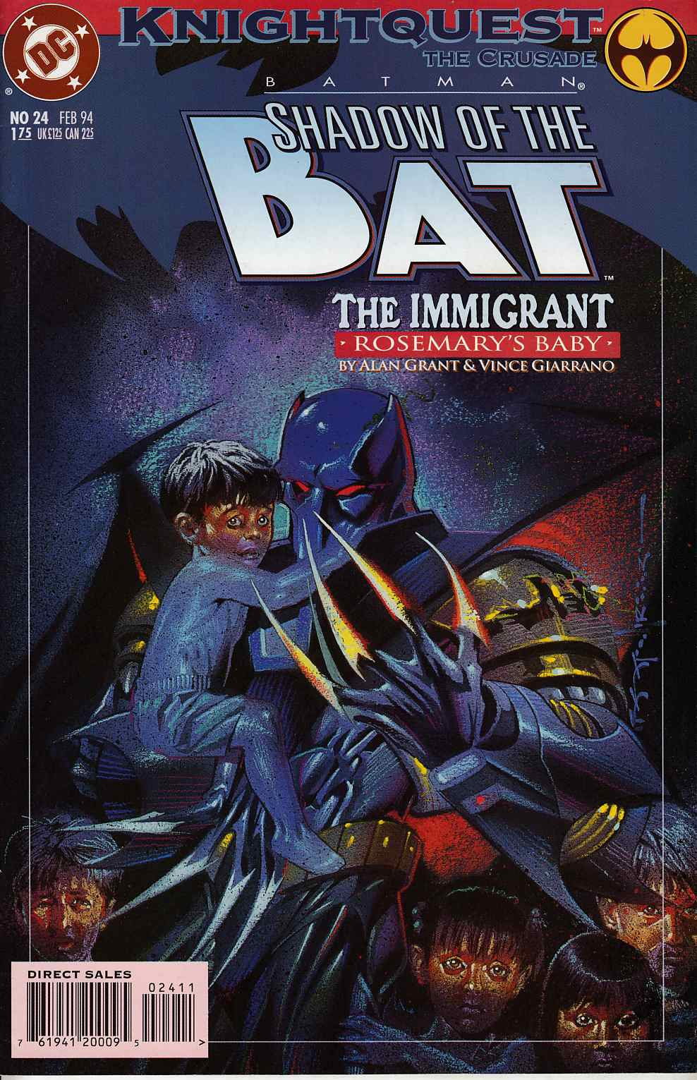 Batman Shadow of the Bat #24 Fine Minus (5.5) [DC Comic] THUMBNAIL