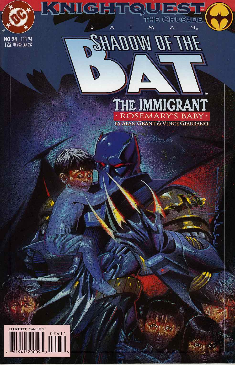 Batman Shadow of the Bat #24 Very Fine (8.0) [DC Comic] THUMBNAIL