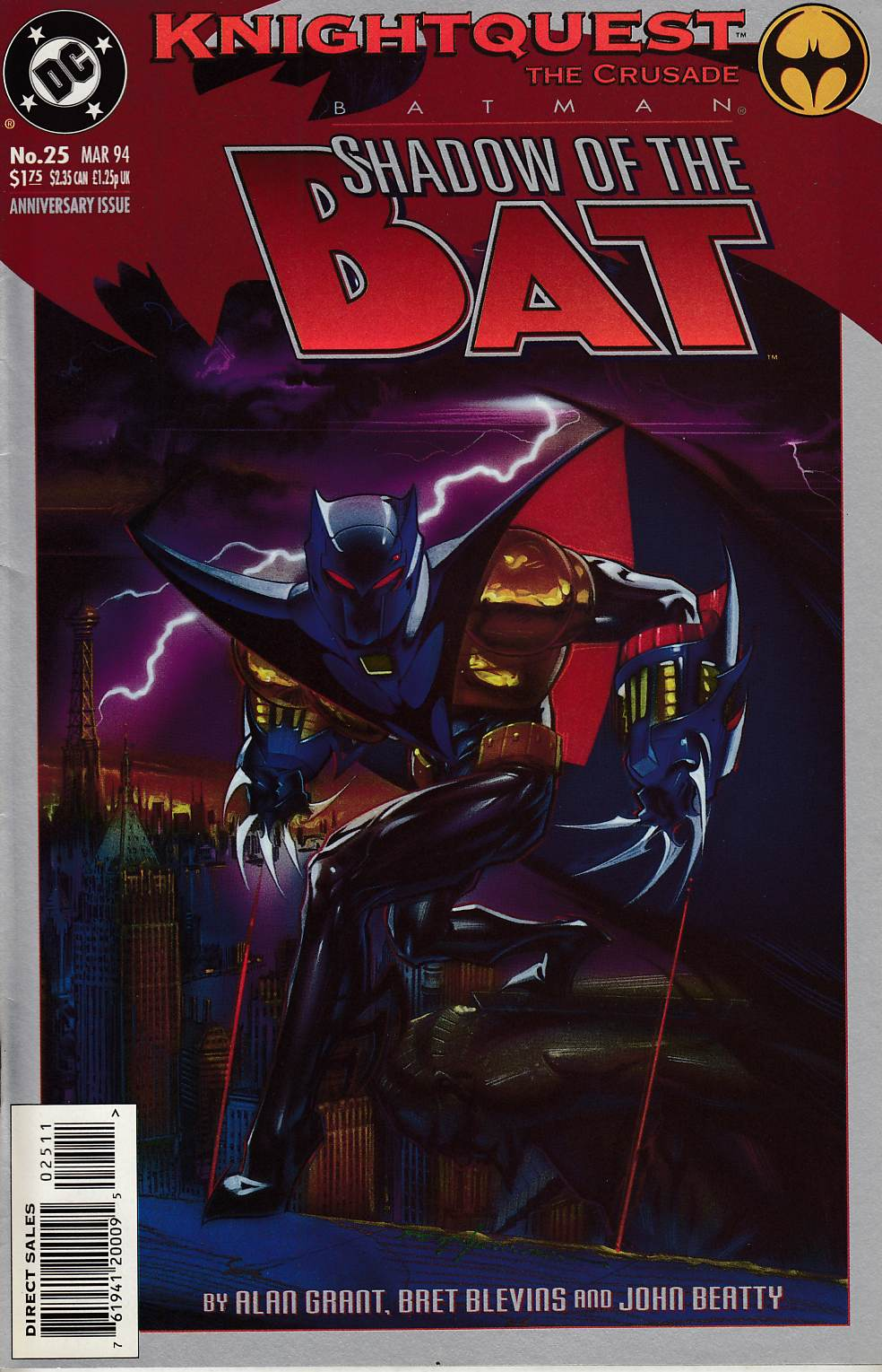 Batman Shadow of the Bat #25 Very Fine (8.0) [DC Comic] THUMBNAIL