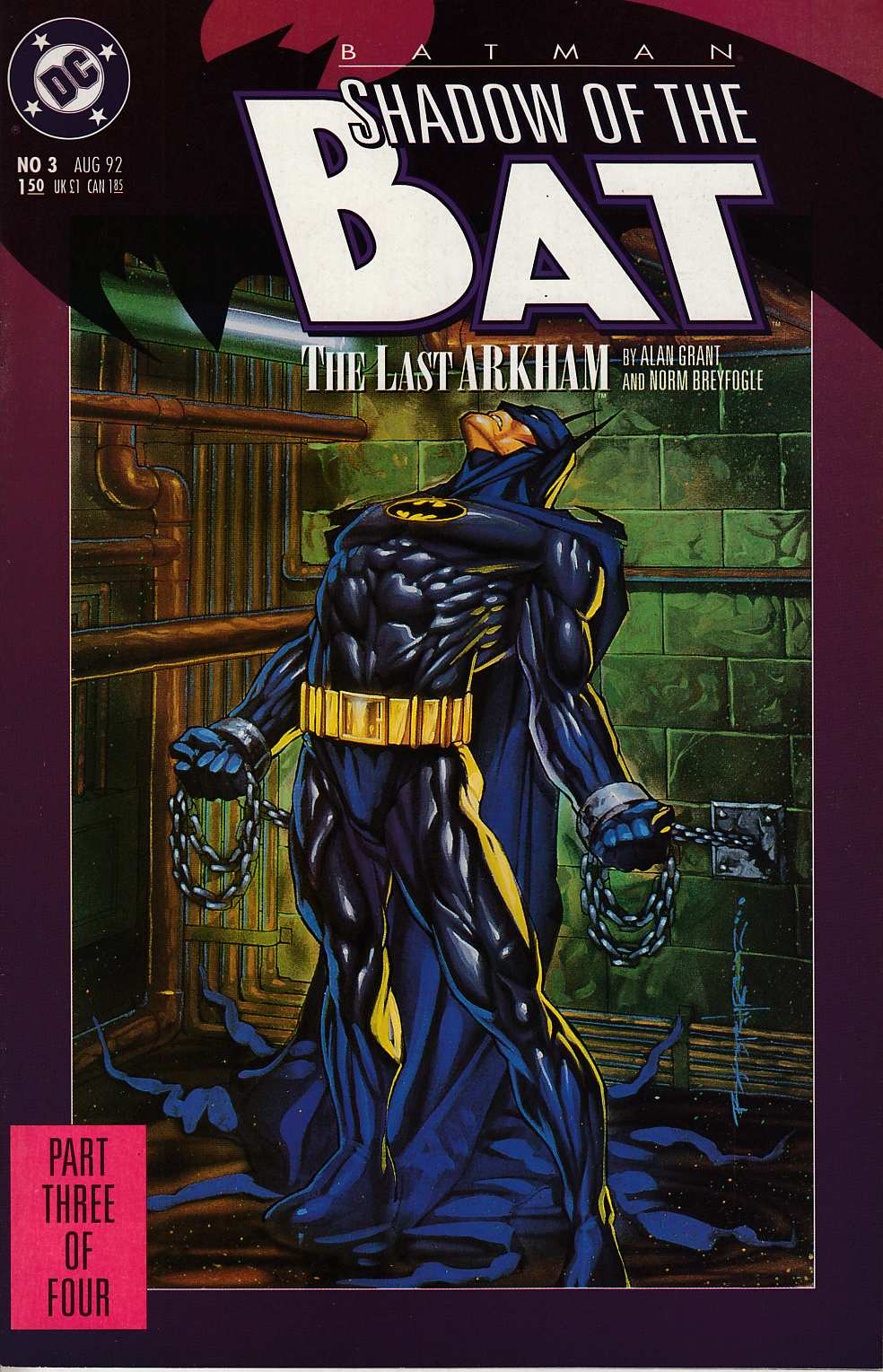 Batman Shadow of the Bat #3 Near Mint (9.4) [DC Comic] LARGE