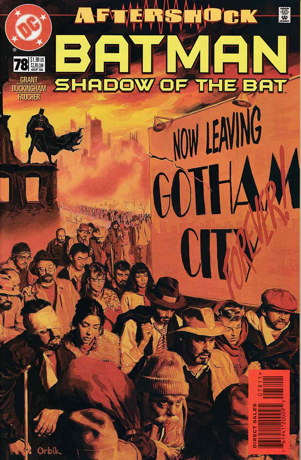 Batman Shadow of the Bat #78 Very FIne (8.0) [DC Comic] LARGE
