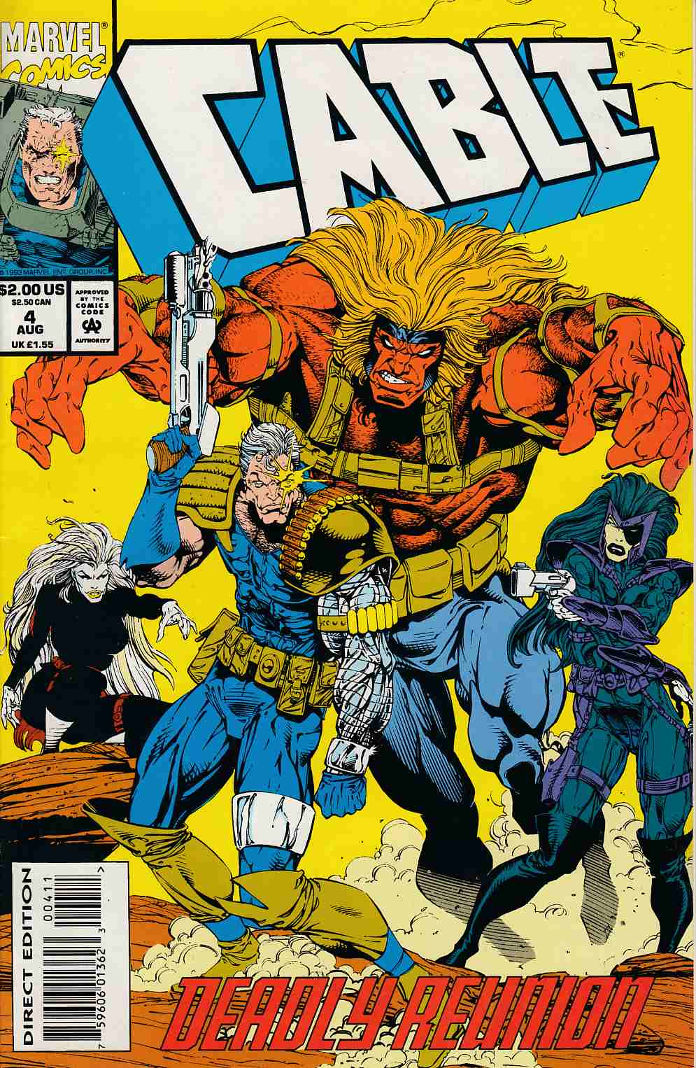 Cable #4 Fine/Very Fine (7.0) [Marvel Comic] THUMBNAIL