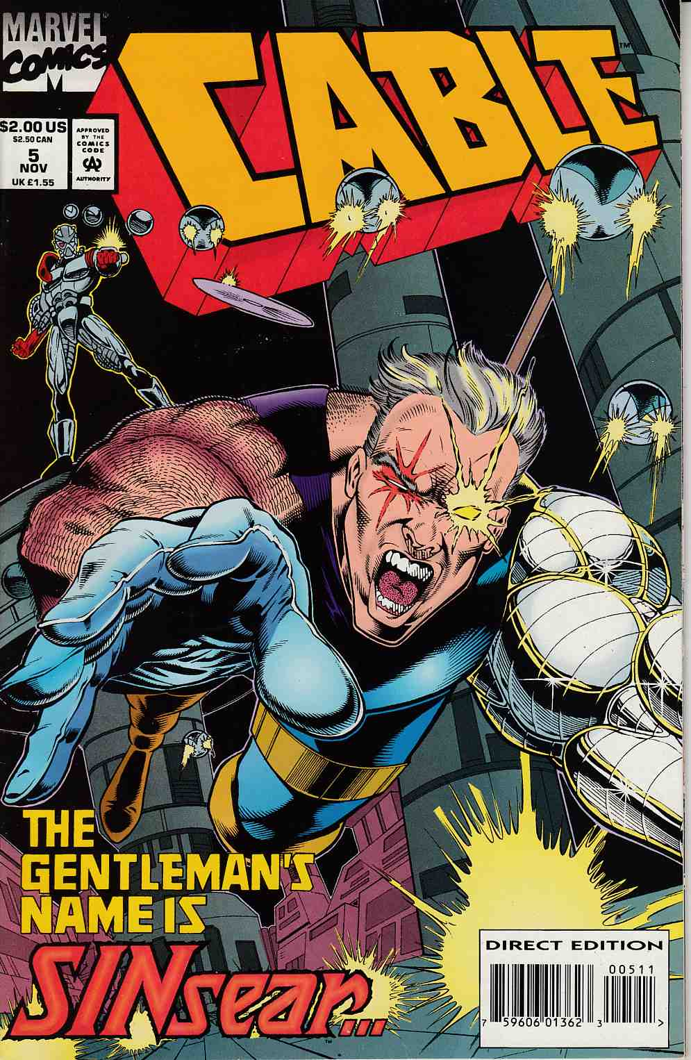 Cable #5 Very Fine (8.0) [Marvel Comic] THUMBNAIL