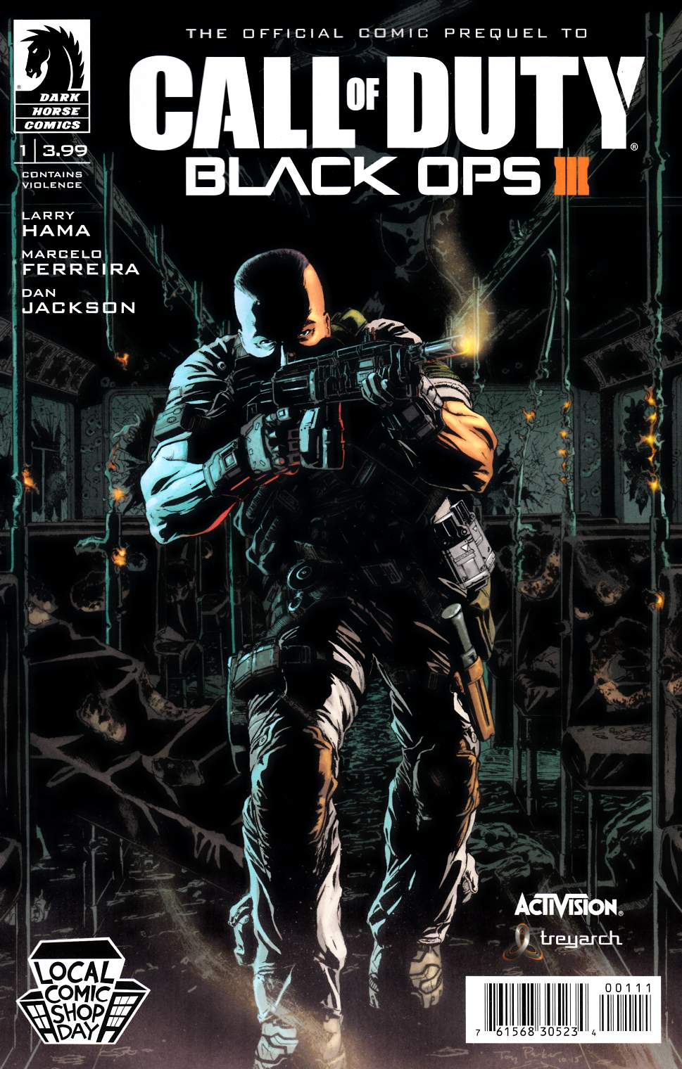 Call of Duty Black Ops III #1 LCSD 2015 Edition [Dark Horse Comic] THUMBNAIL