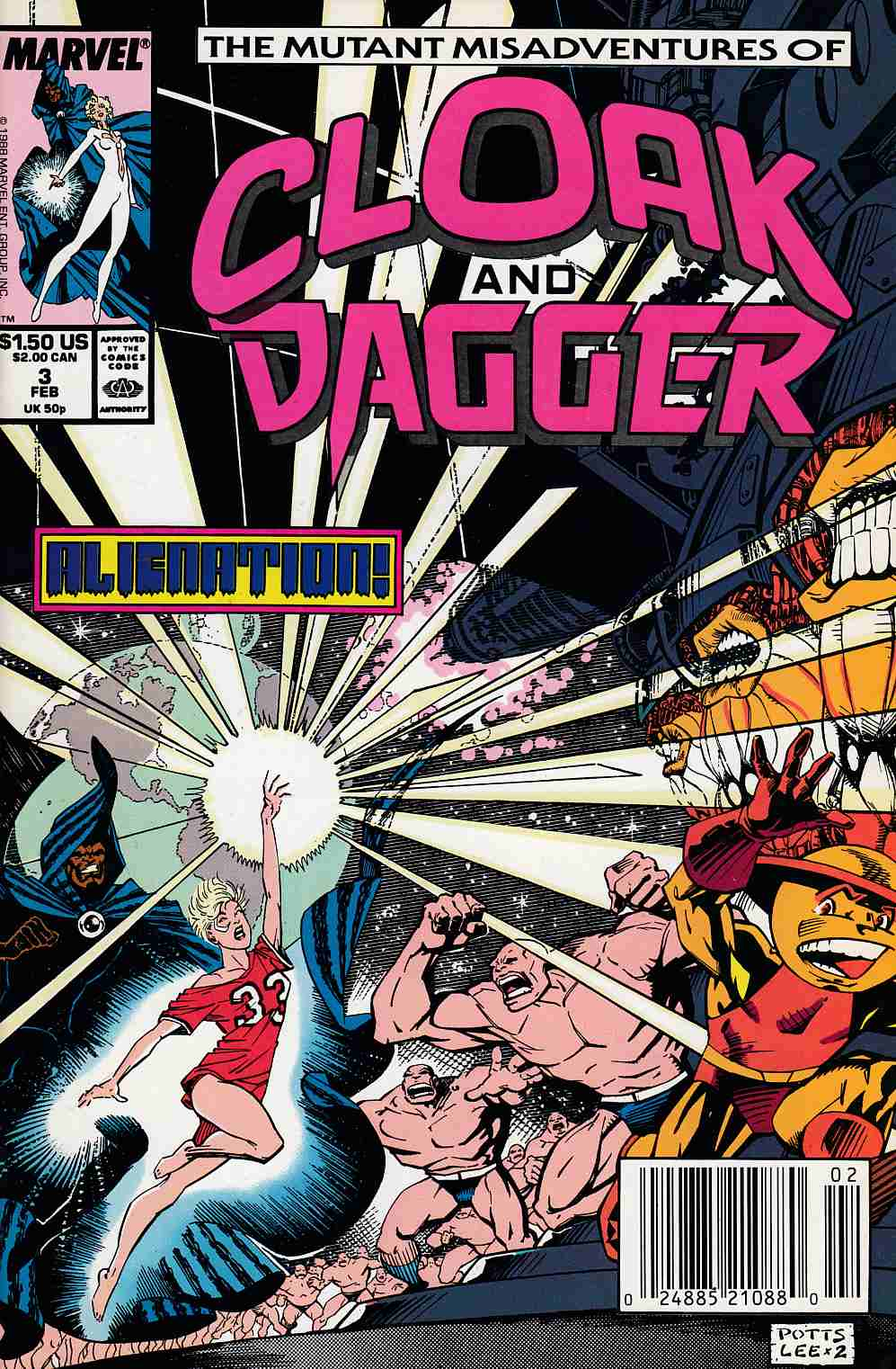 Cloak and Dagger #3 Newsstand Edition Near Mint (9.4) [Marvel Comic] LARGE