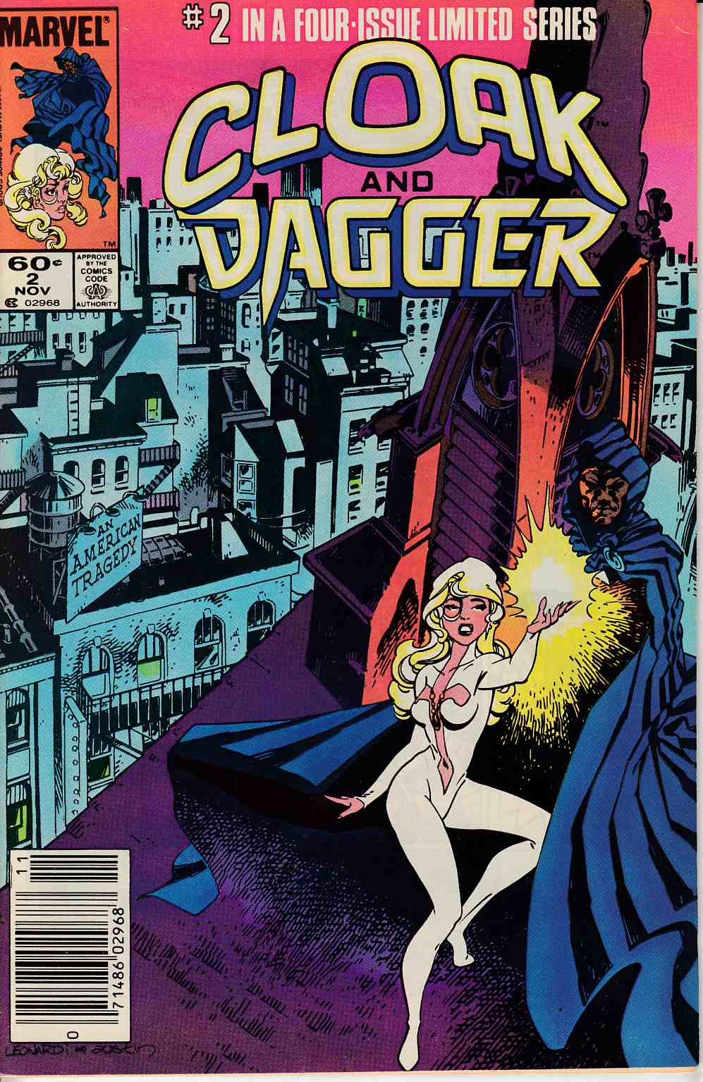 Cloak and Dagger #2 Newsstand Edition Very Fine (8.0) [Marvel Comic] LARGE