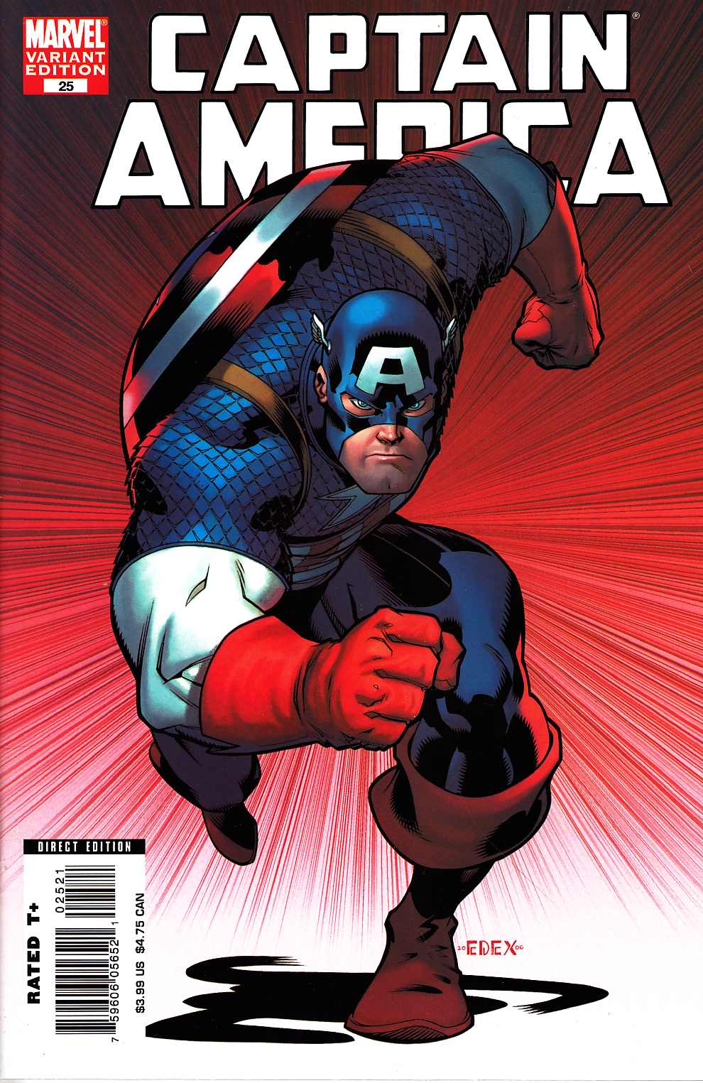 Captain America #25 McGuinness Variant Cover Near Mint (9.4) [Marvel Comic] THUMBNAIL