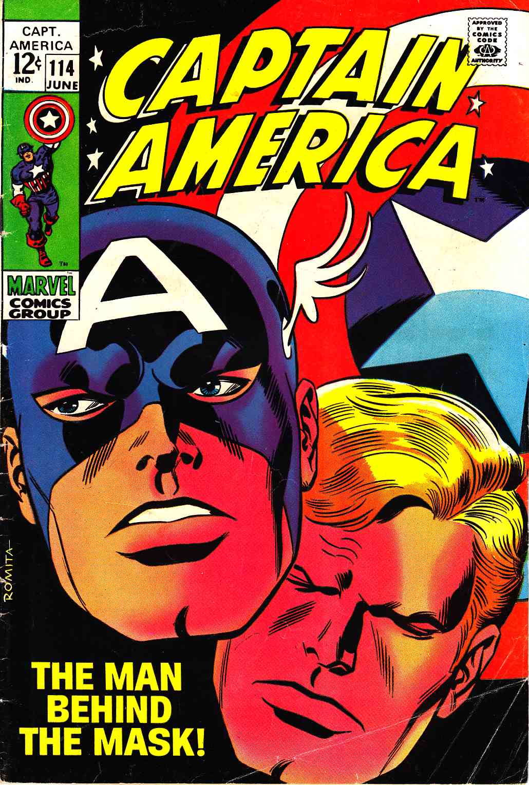 Captain America #114 Very Good (4.0) [Marvel Comic] THUMBNAIL