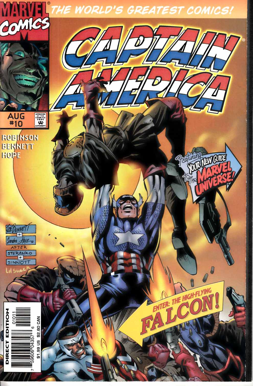 Captain America #10 Near Mint (9.4) [Marvel Comic] THUMBNAIL
