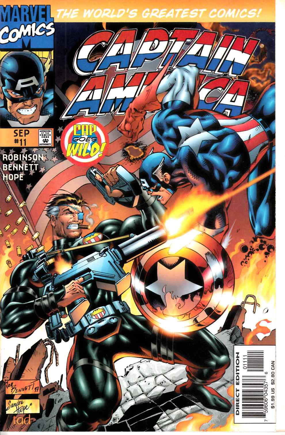 Captain America #11 Near Mint (9.4) [Marvel Comic] THUMBNAIL