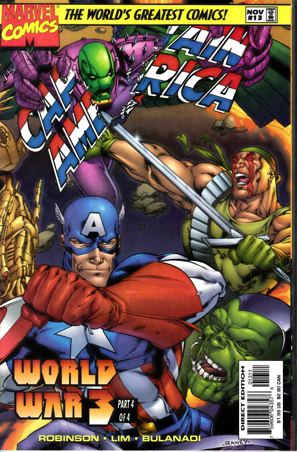 Captain America #13 Near Mint (9.4) [Marvel Comic] THUMBNAIL