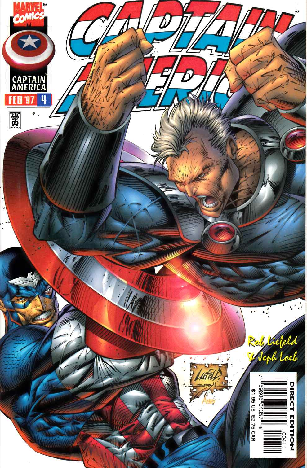 Captain America #4 Near Mint (9.4) [Marvel Comic] THUMBNAIL