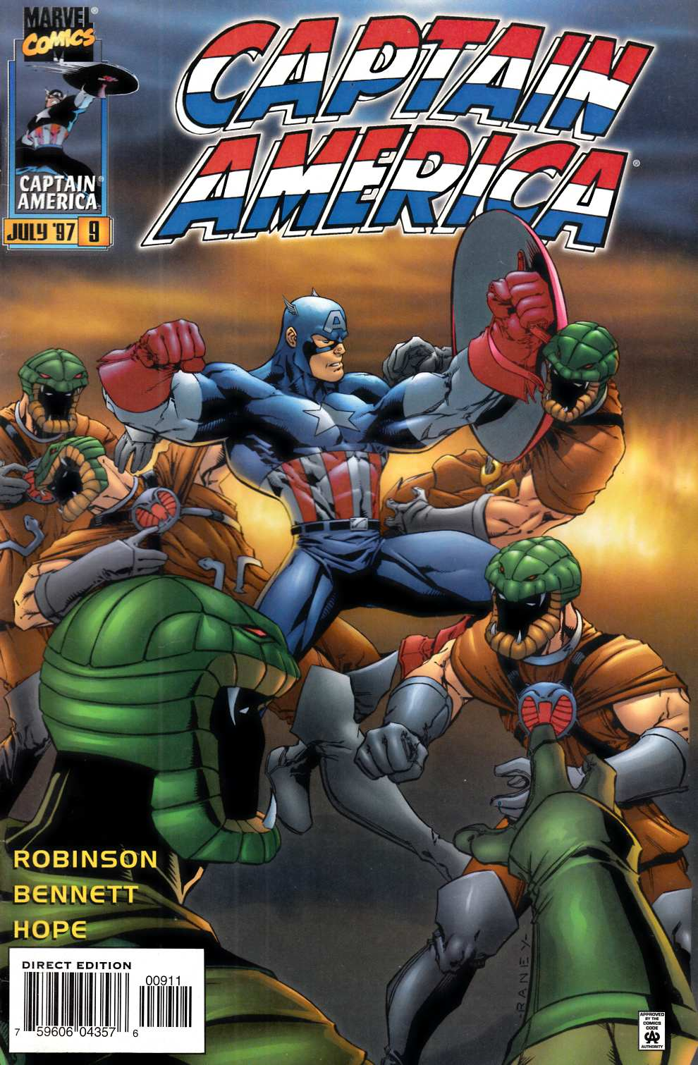 Captain America #9 Near Mint (9.4) [Marvel Comic] THUMBNAIL