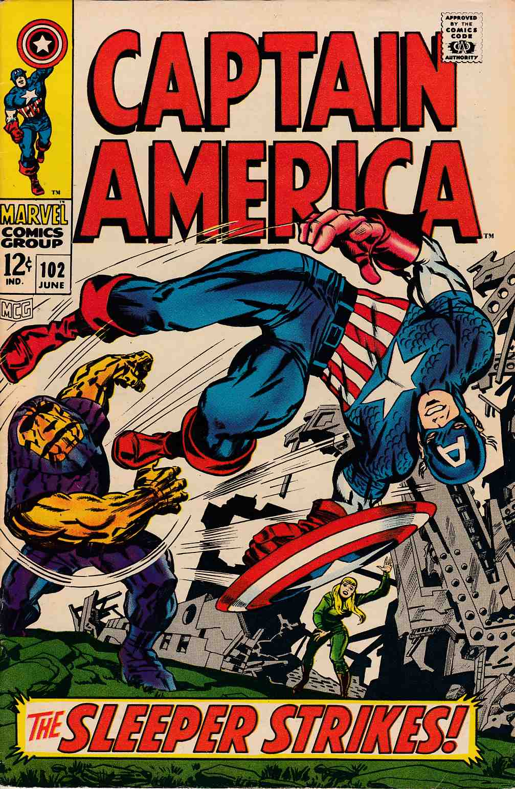 Captain America #102 Very Good/Fine (5.0) [Marvel Comic] THUMBNAIL