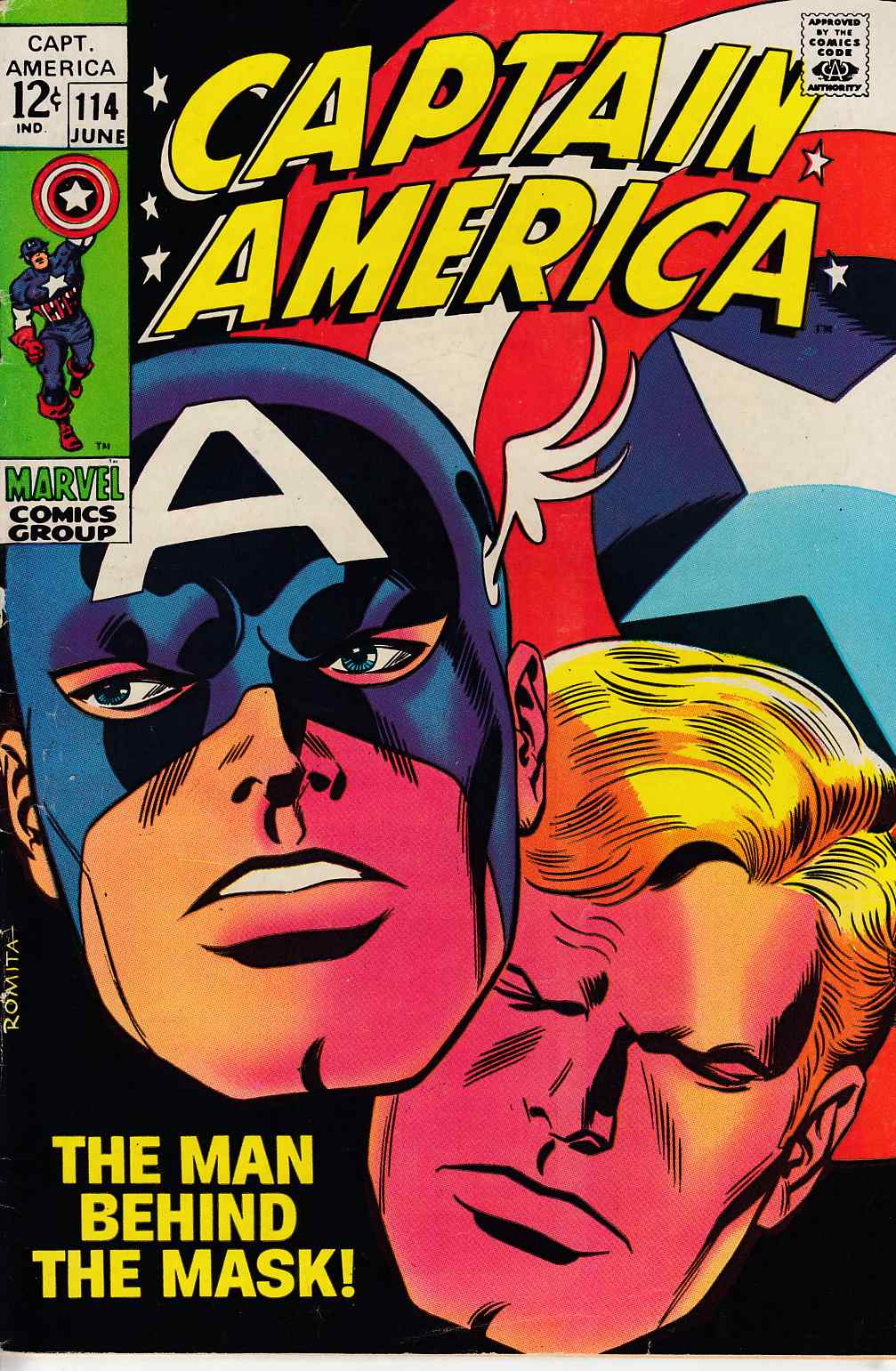 Captain America #114 Fine (6.0) [Marvel Comic] THUMBNAIL