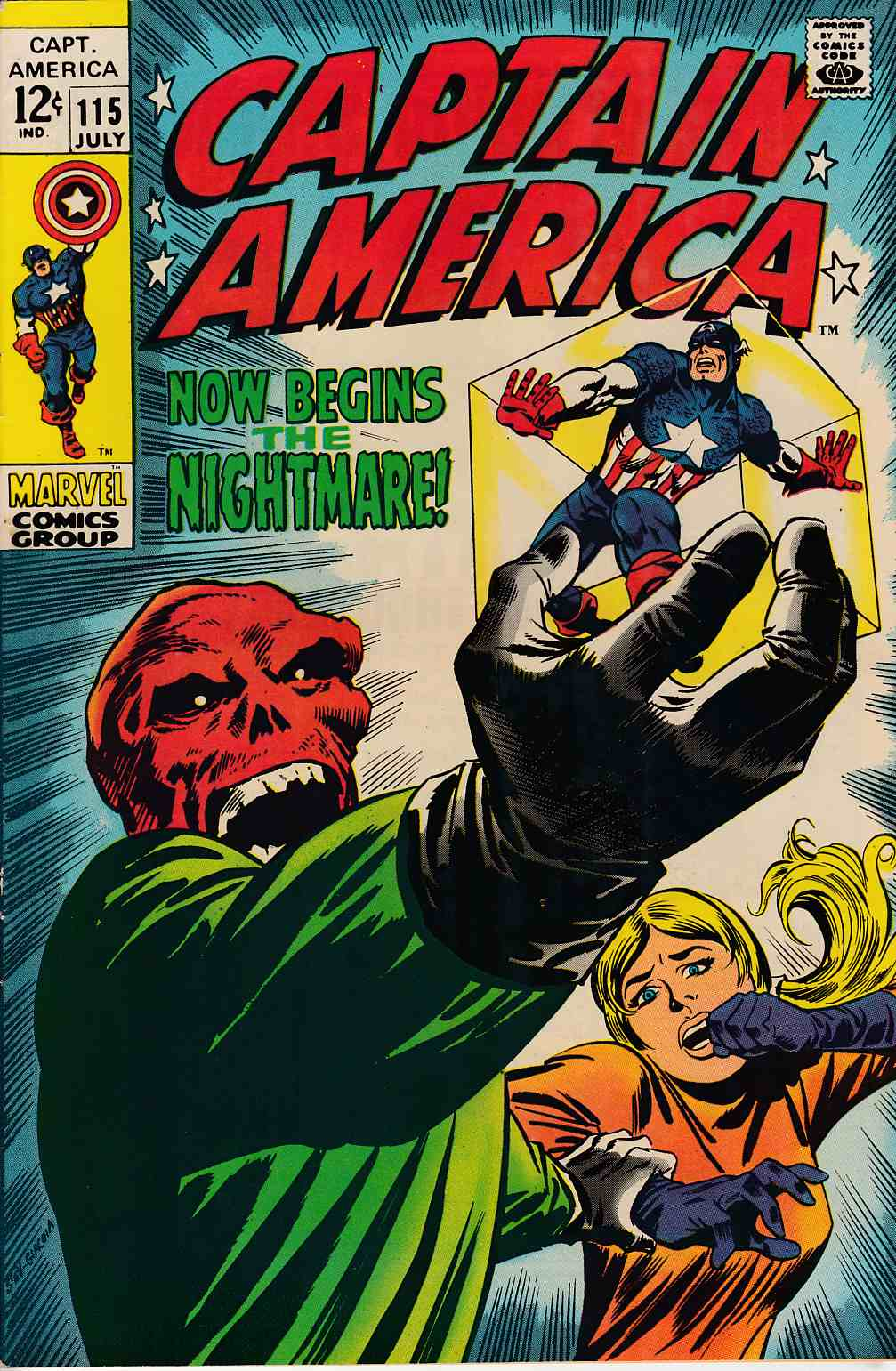 Captain America #115 Very Fine Minus (7.5) [Marvel Comic] THUMBNAIL