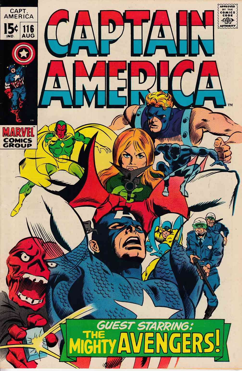 Captain America #116 Very Fine (8.0) [Marvel Comic] THUMBNAIL