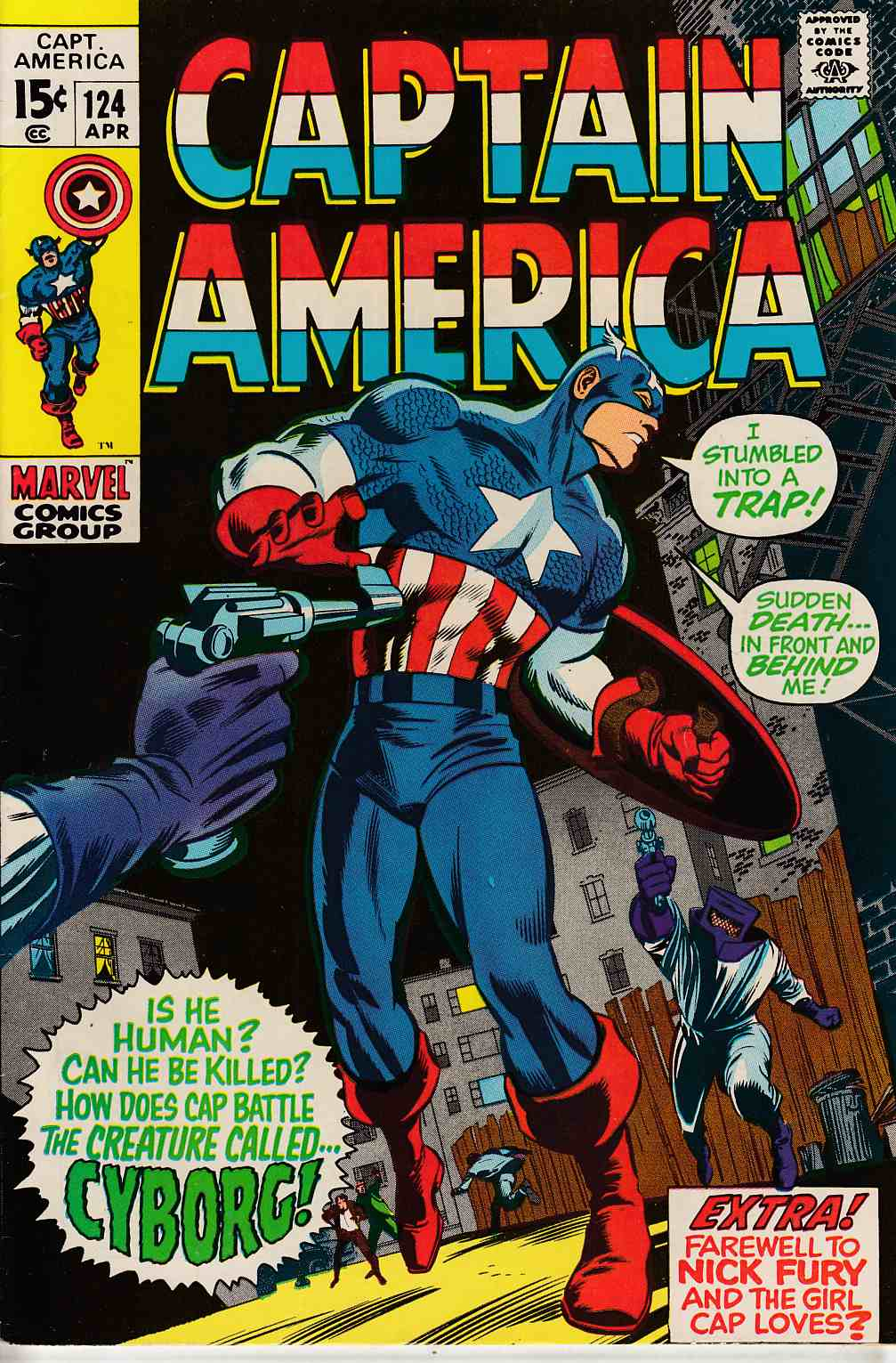 Captain America #124 Very Fine (8.0) [Marvel Comic]_LARGE