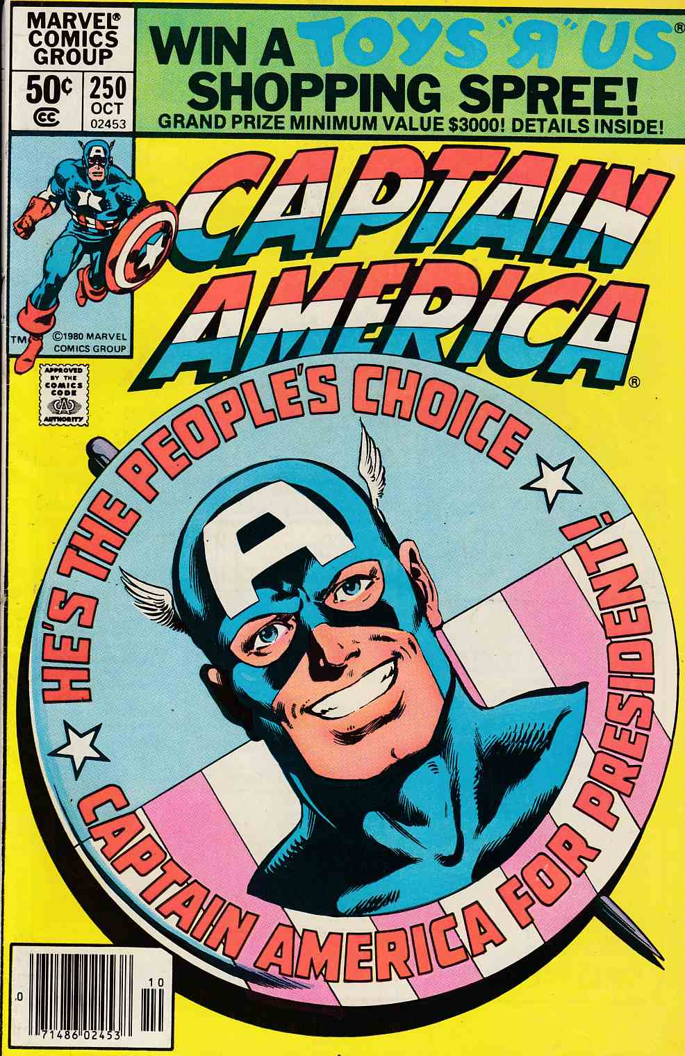 Captain America #250 Newsstand Edition Fine (6.0) [Marvel Comic] LARGE