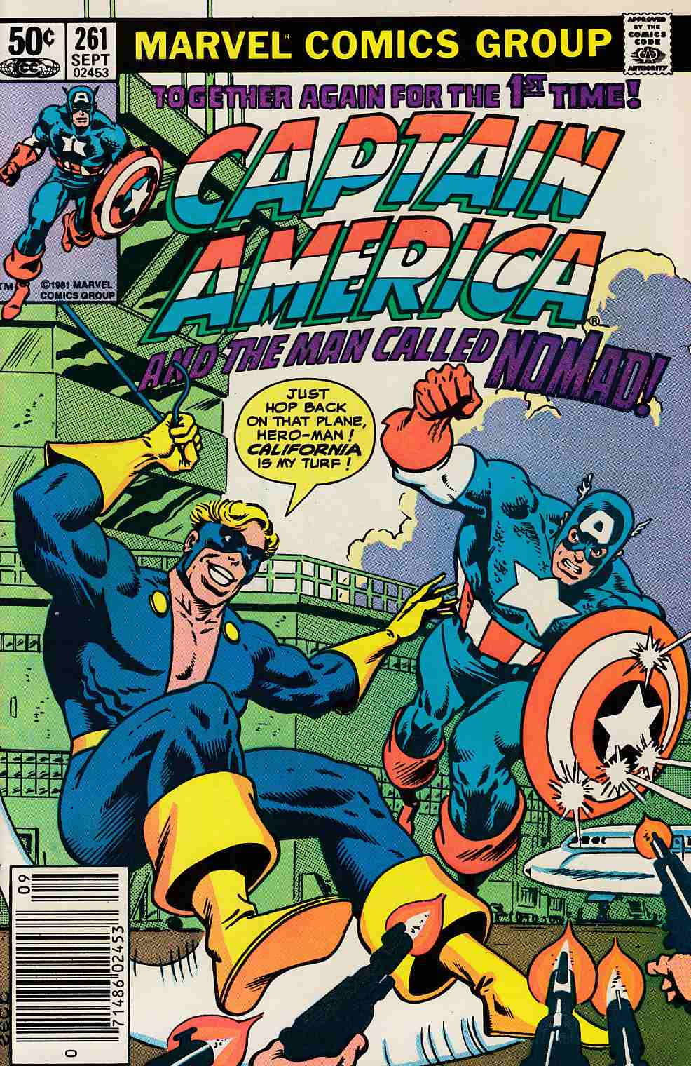 Captain America #261 Newsstand Edition Very Fine (8.0) [Marvel Comic] LARGE