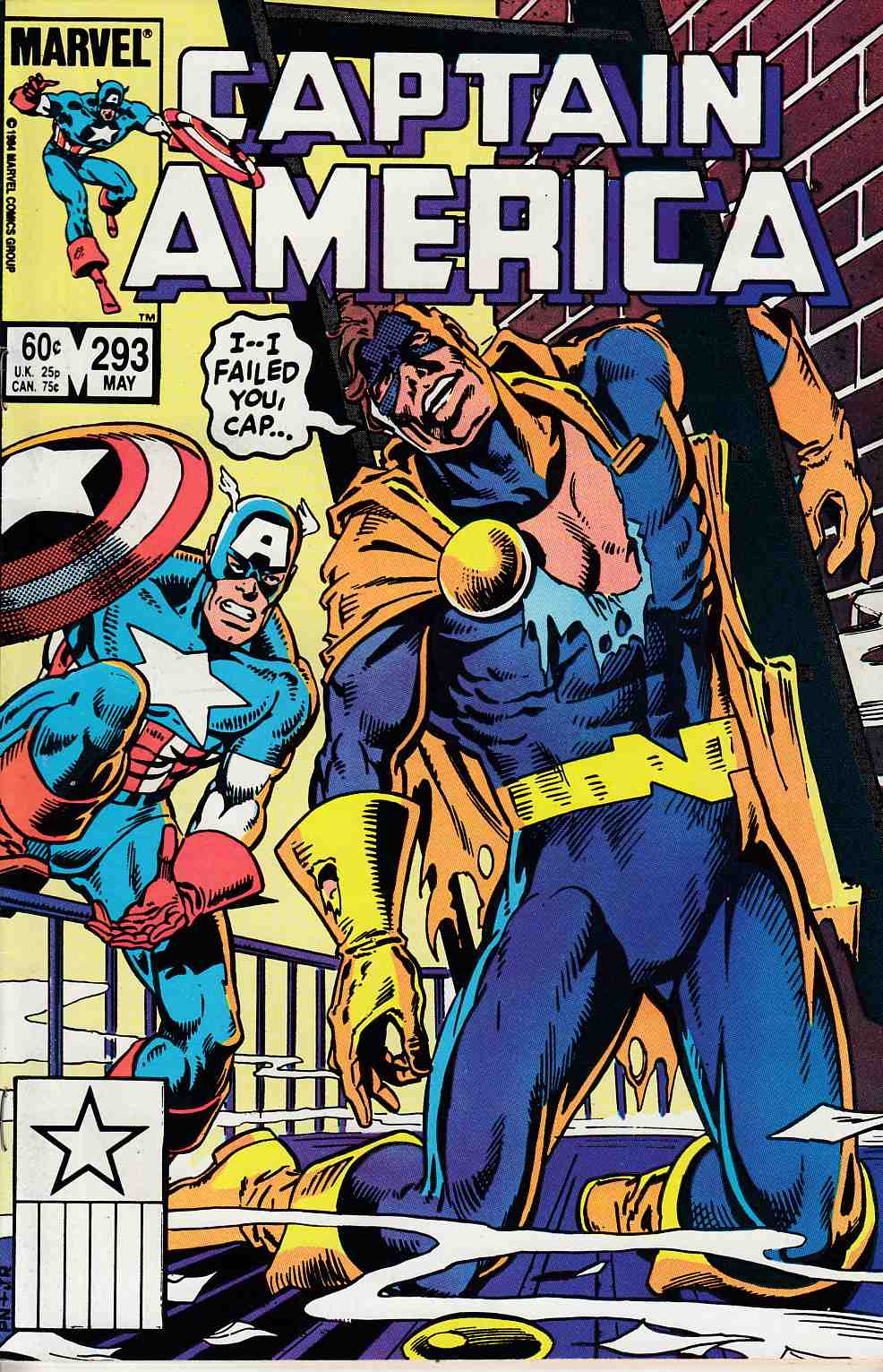 Captain America #293 Very Fine (8.0) [Marvel Comic] LARGE