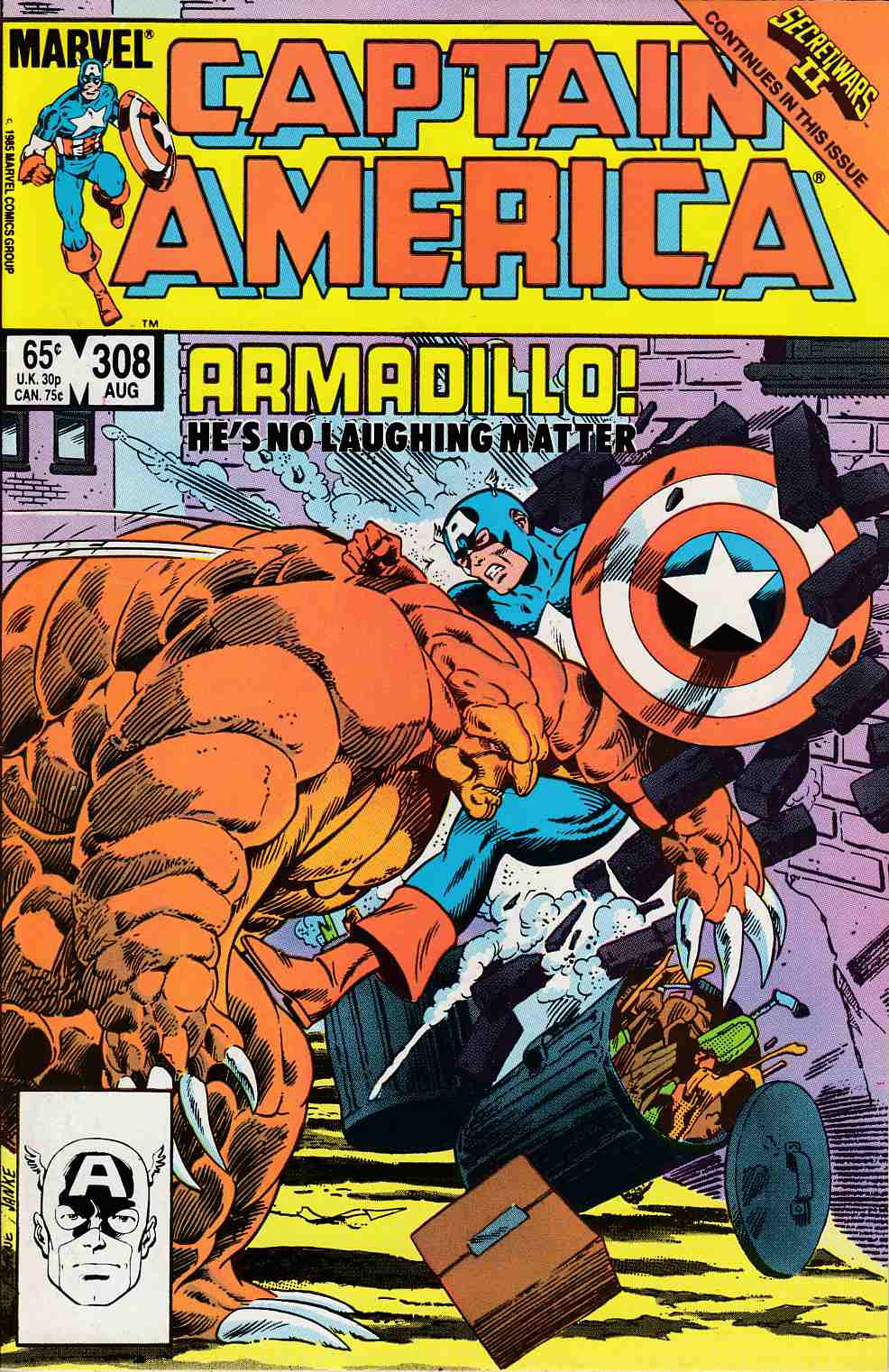 Captain America #308 Very Fine (8.0) [Marvel Comic] LARGE