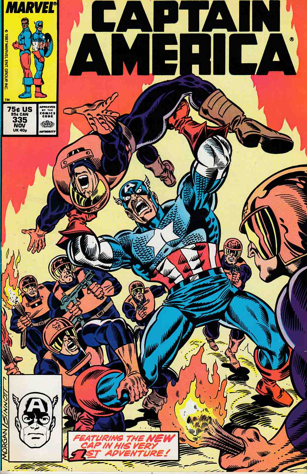 Captain America #335 Very Fine (8.0) [Marvel Comic] LARGE