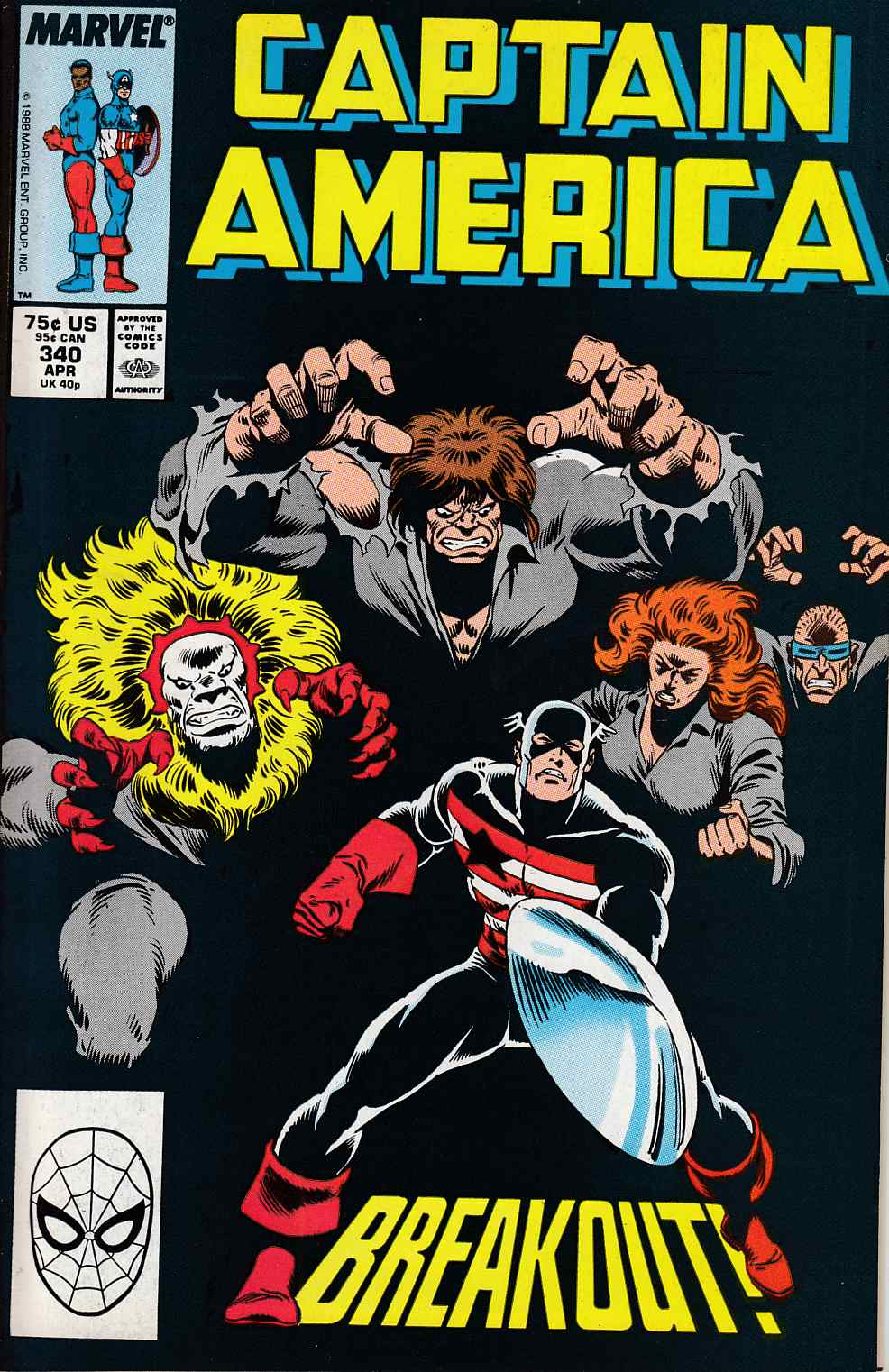 Captain America #340 Very Fine (8.0) [Marvel Comic] LARGE