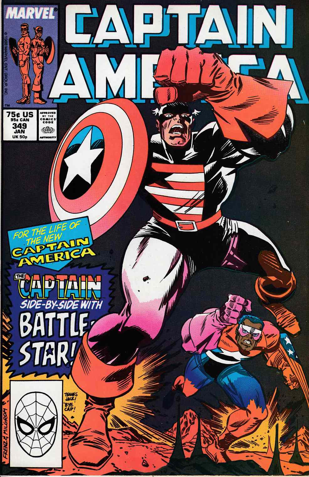 Captain America #349 Very Fine (8.0) [Marvel Comic] LARGE
