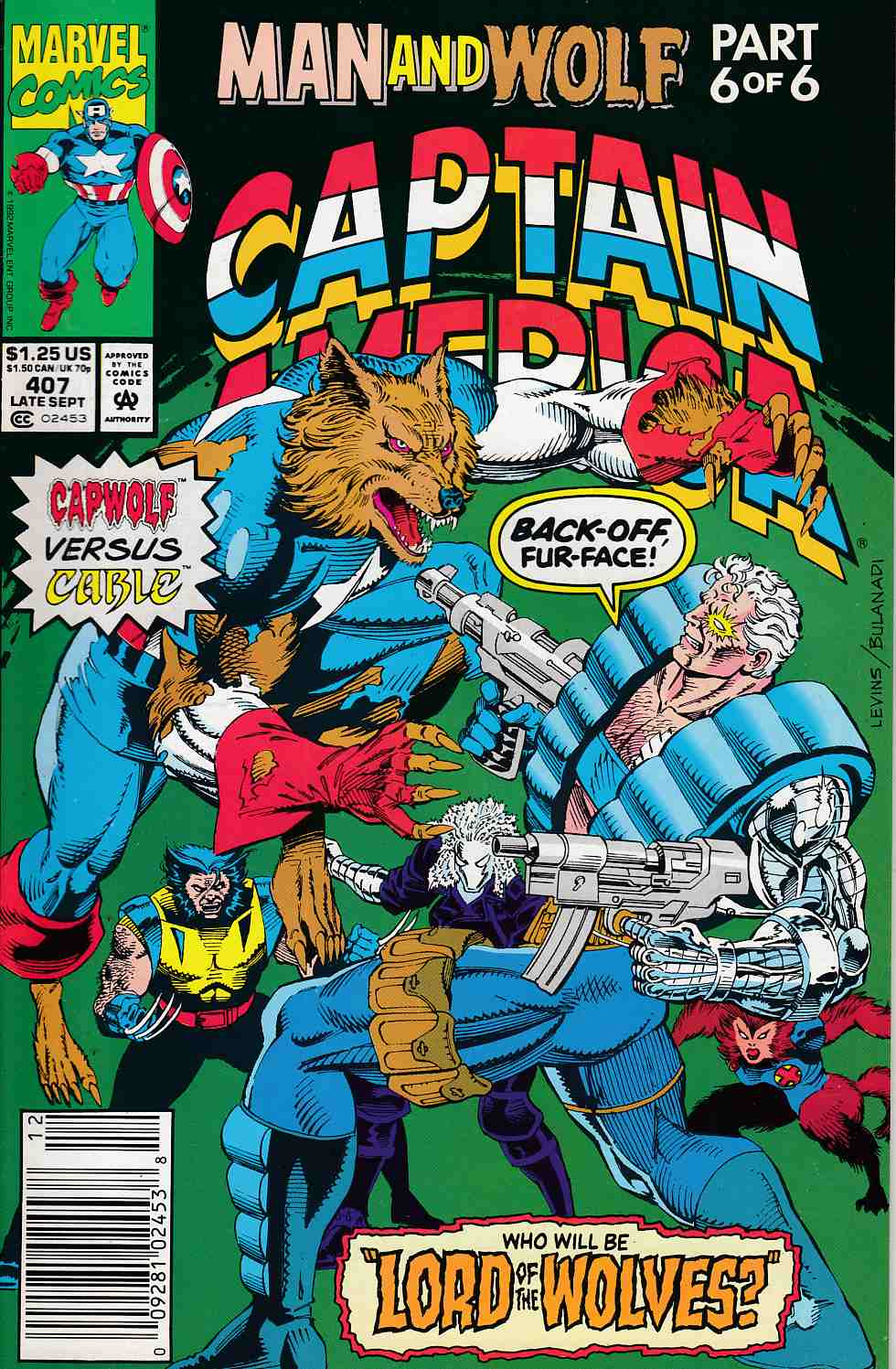 Captain America #407 Newsstand Edition Very Fine (8.0) [Marvel Comic] LARGE