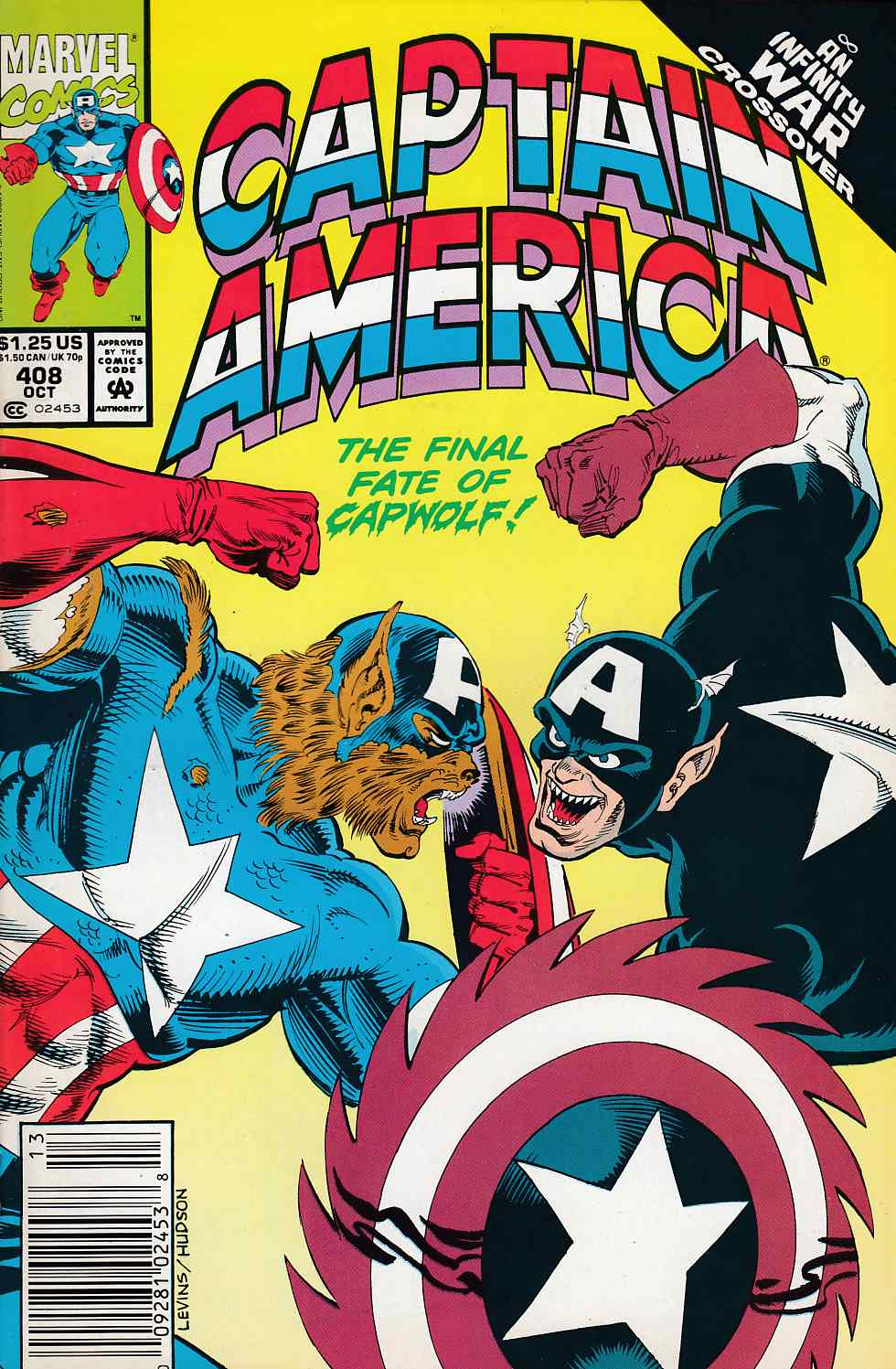 Captain America #408 Newsstand Edition Very Fine (8.0) [Marvel Comic] LARGE