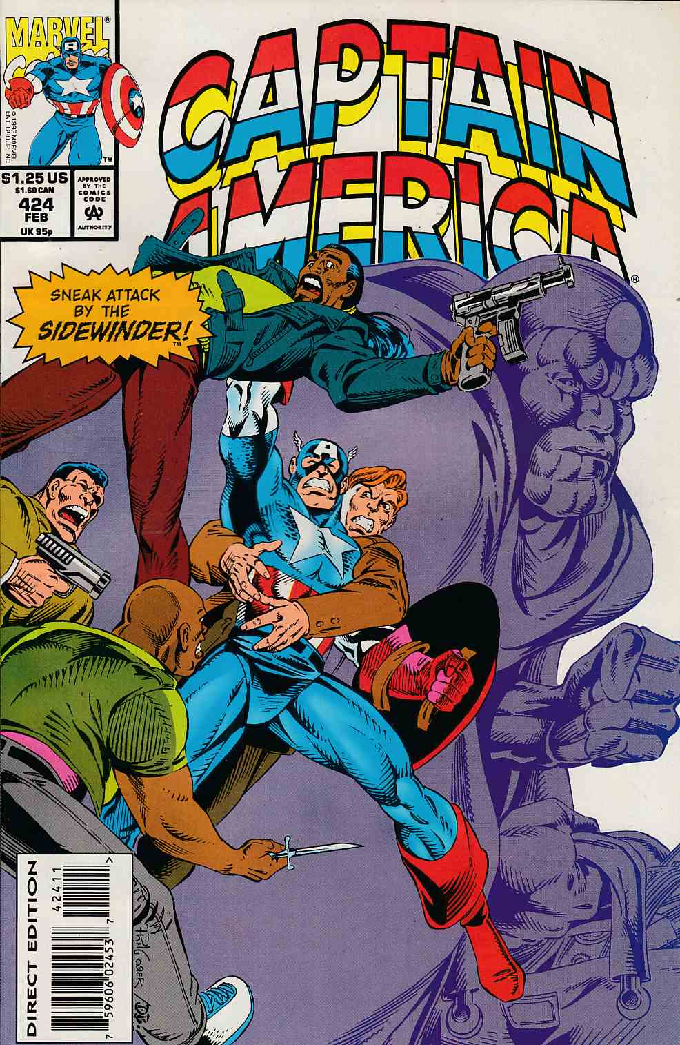 Captain America #424 Very Fine (8.0) [Marvel Comic] LARGE