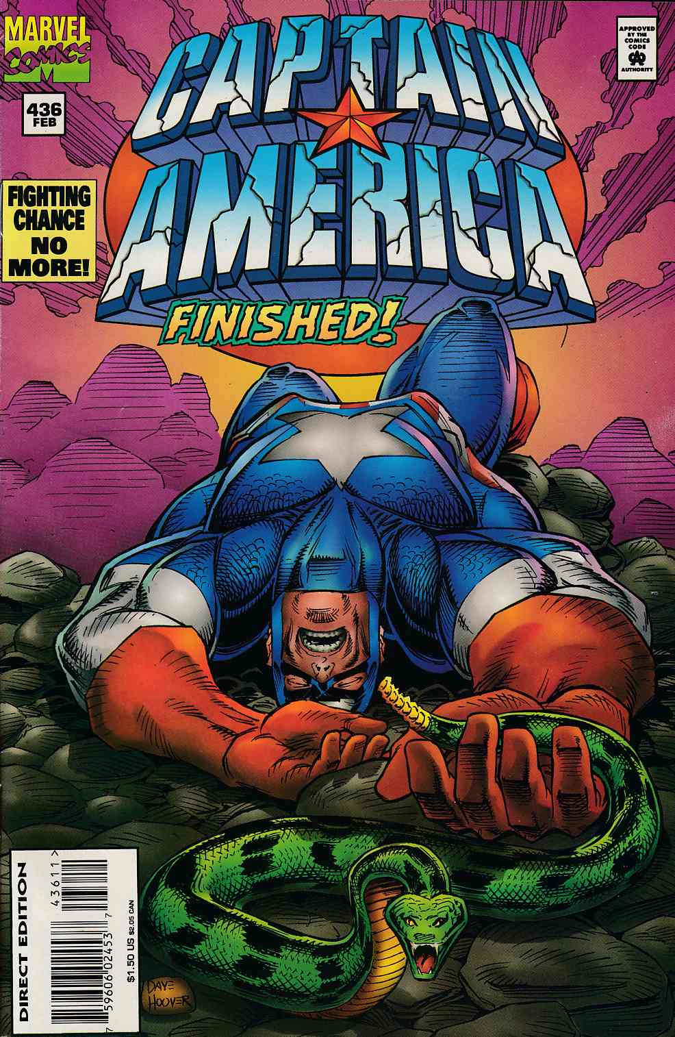 Captain America #436 Very Fine (8.0) [Marvel Comic] LARGE