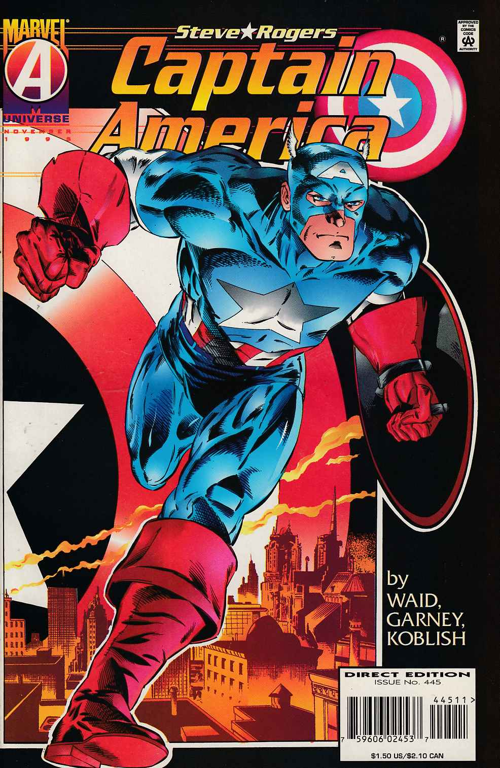 Captain America #445 Very Fine (8.0) [Marvel Comic] LARGE