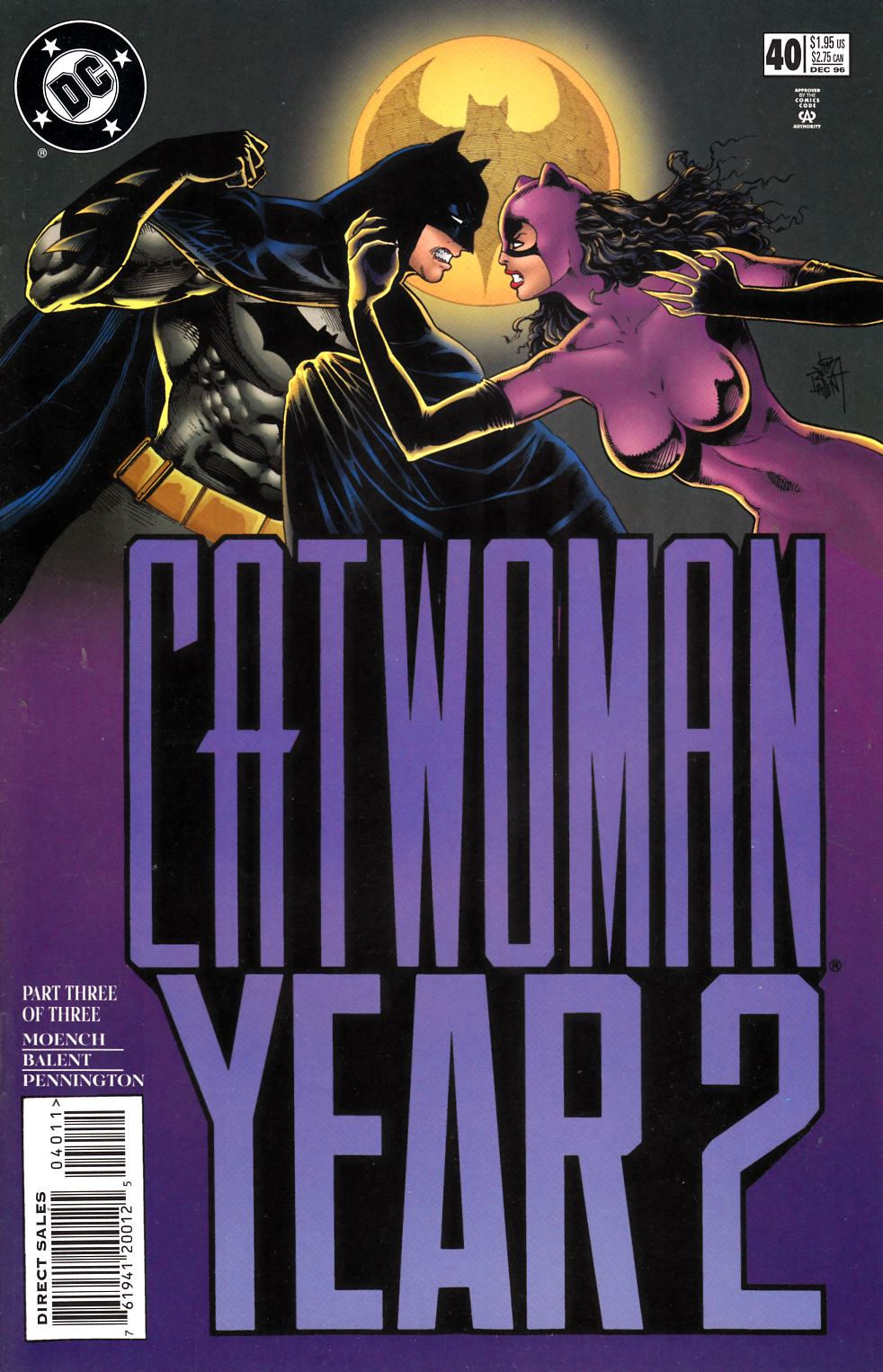 Catwoman #40 Near Mint Minus (9.2) [DC Comic] LARGE