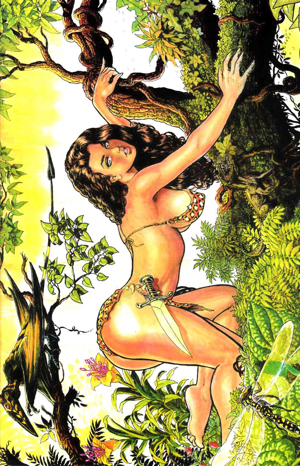 Cavewoman Fallen (One Shot) Cover D- Root Special [Comic] THUMBNAIL