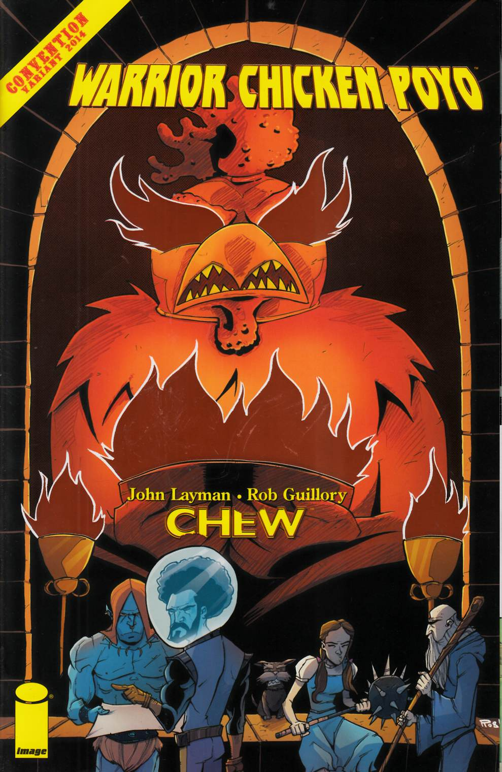 Chew Warrior Chicken Poyo #1 SDCC Orange Foil Variant Cover [Comic] THUMBNAIL