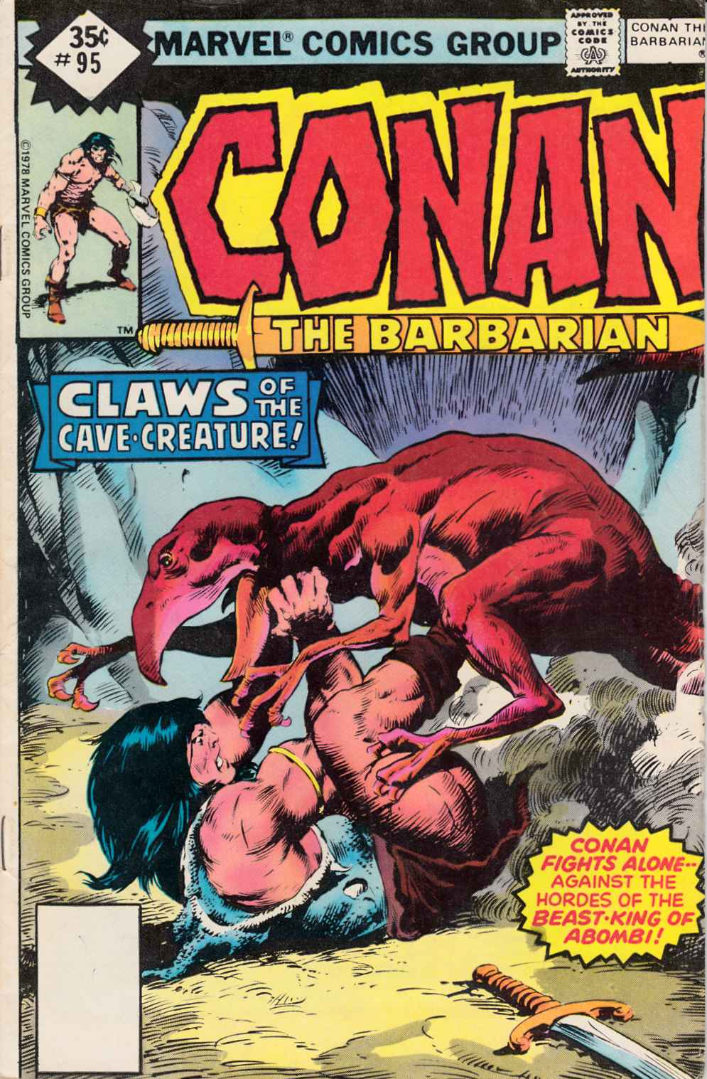 Conan the Barbarian #95 Whitman Edition Very Good Plus (4.5) [Marvel Comic] LARGE