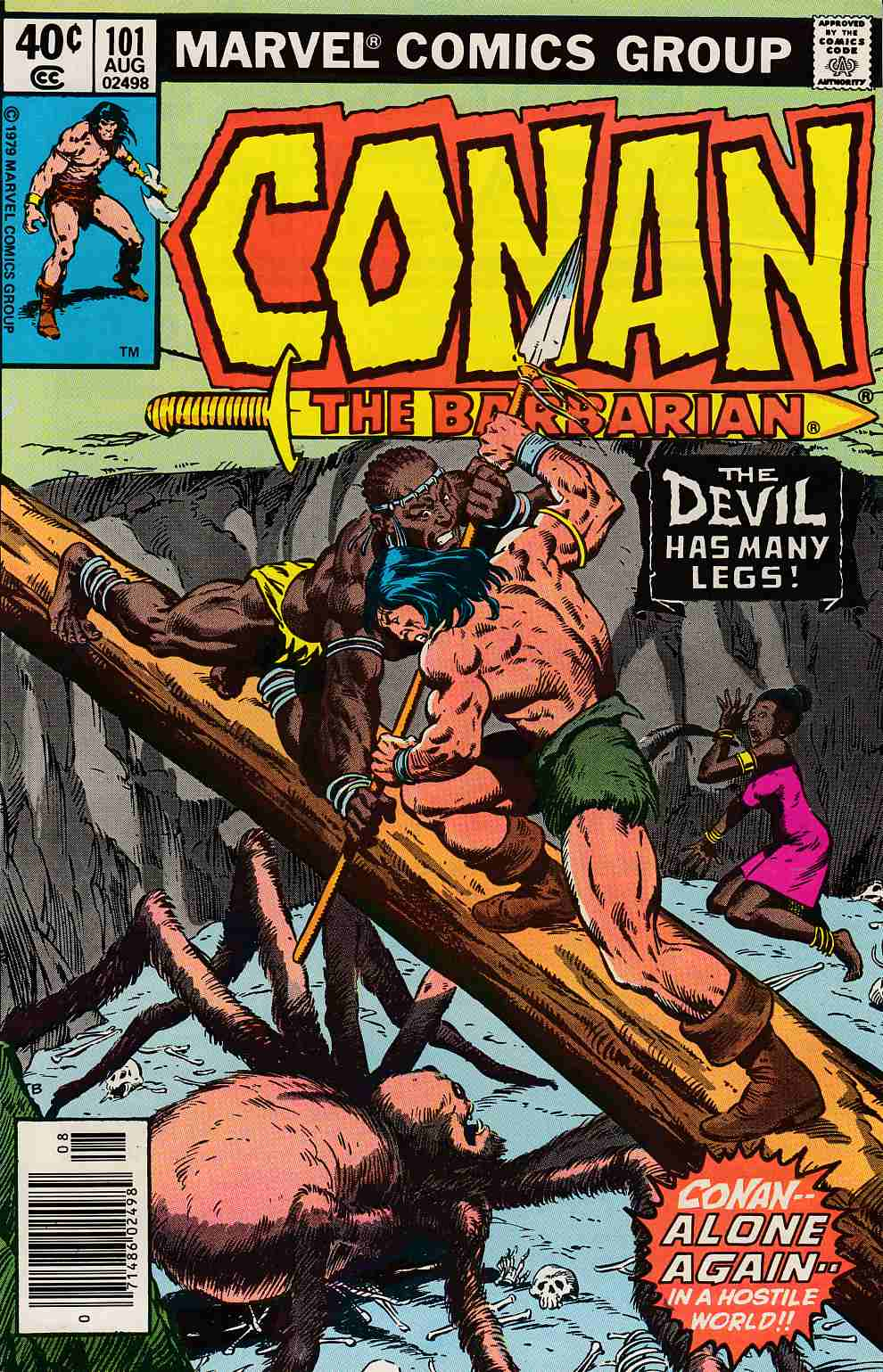 Conan the Barbarian #101 Newsstand Edition Very Fine Minus (7.5) [Marvel Comic] LARGE