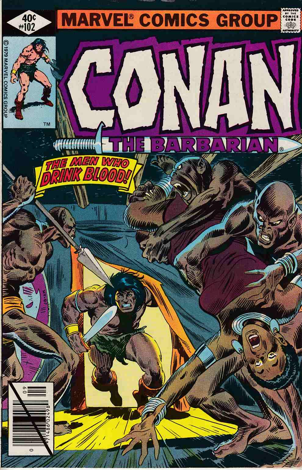 Conan the Barbarian #102 Fine (6.0) [Marvel Comic] LARGE