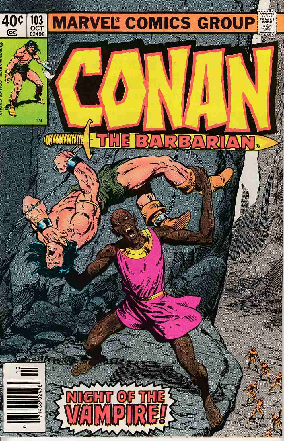 Conan the Barbarian #103 Newsstand Edition Very Fine Plus (8.5) [Marvel Comic] LARGE