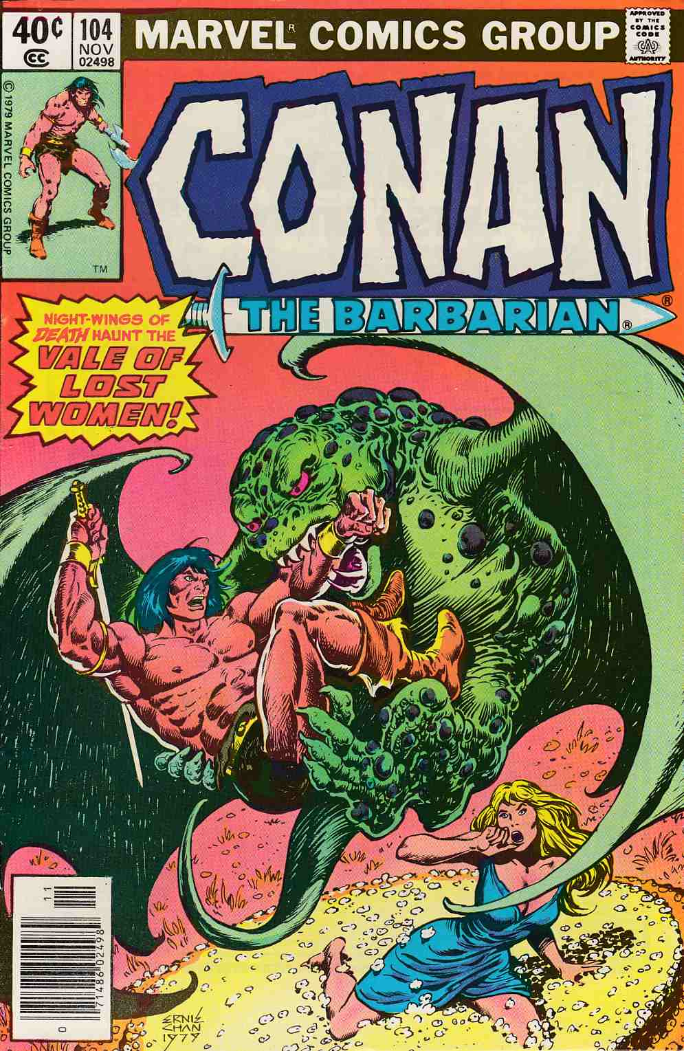 Conan the Barbarian #104 Newsstand Edition Very Fine (8.0) [Marvel Comic] LARGE